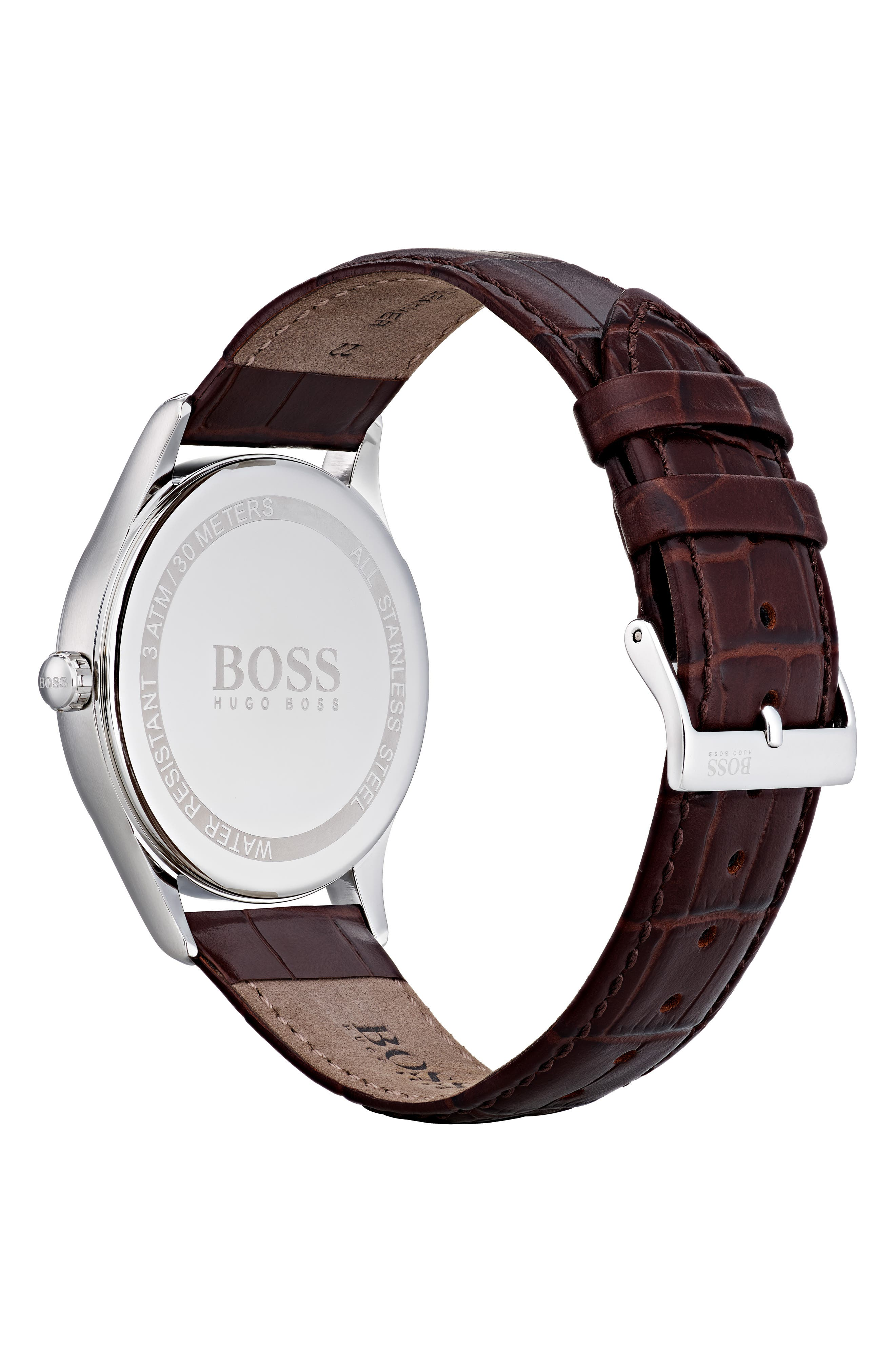 Governor Leather Strap Watch, 44mm,                             Alternate thumbnail 2, color,                             210