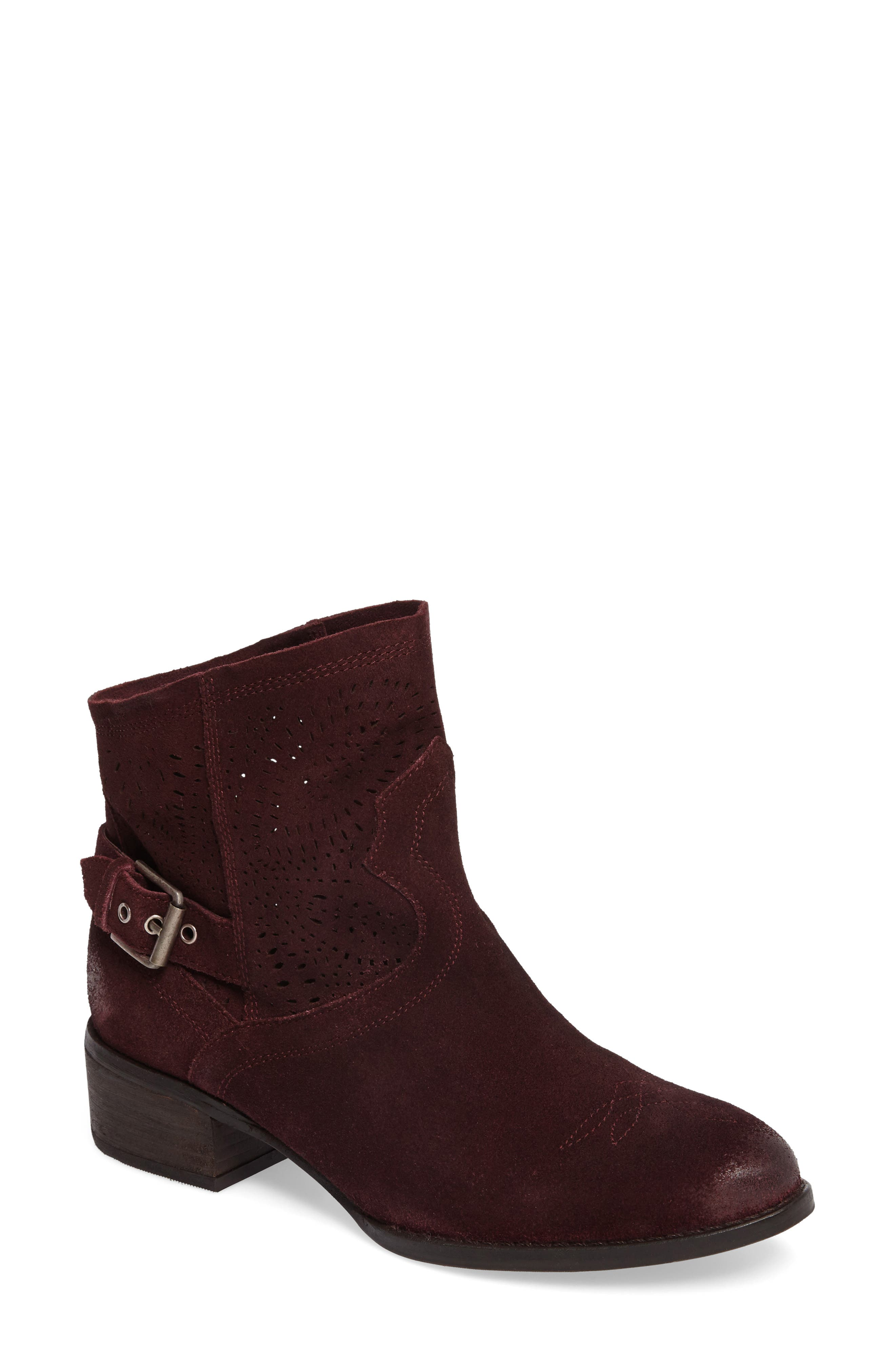 Zoey Perforated Bootie,                             Main thumbnail 4, color,