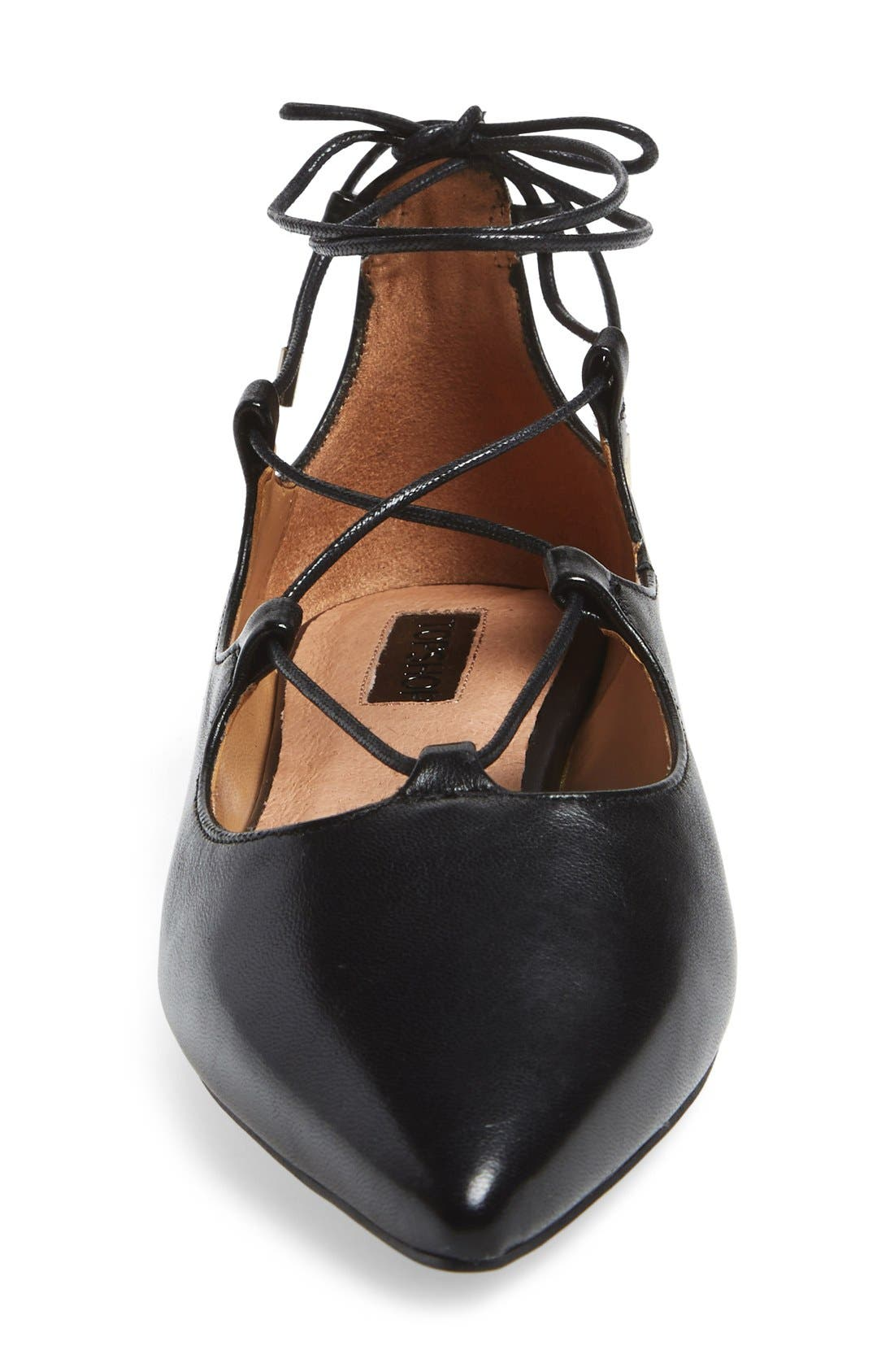 'Leather Kingdom' Pointy Toe Flat,                             Alternate thumbnail 3, color,                             001