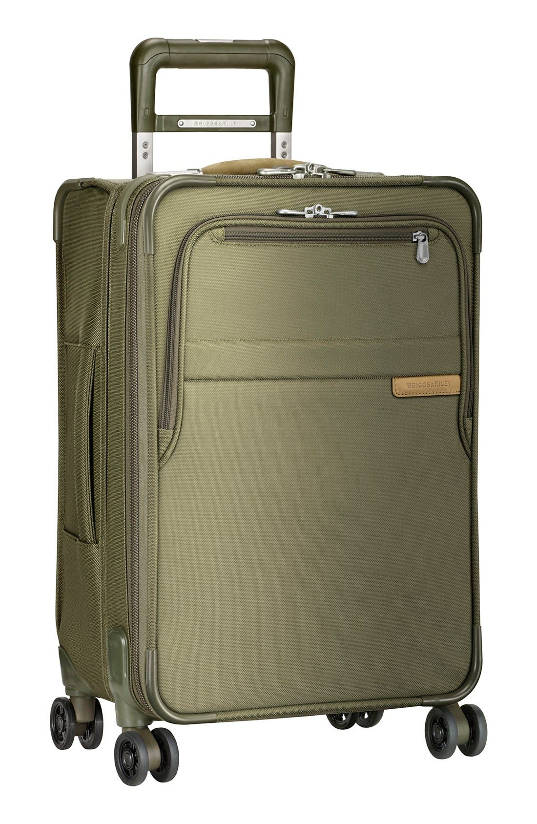 Baseline Domestic 22-Inch Expandable Rolling Carry-On, Main, color, OLIVE