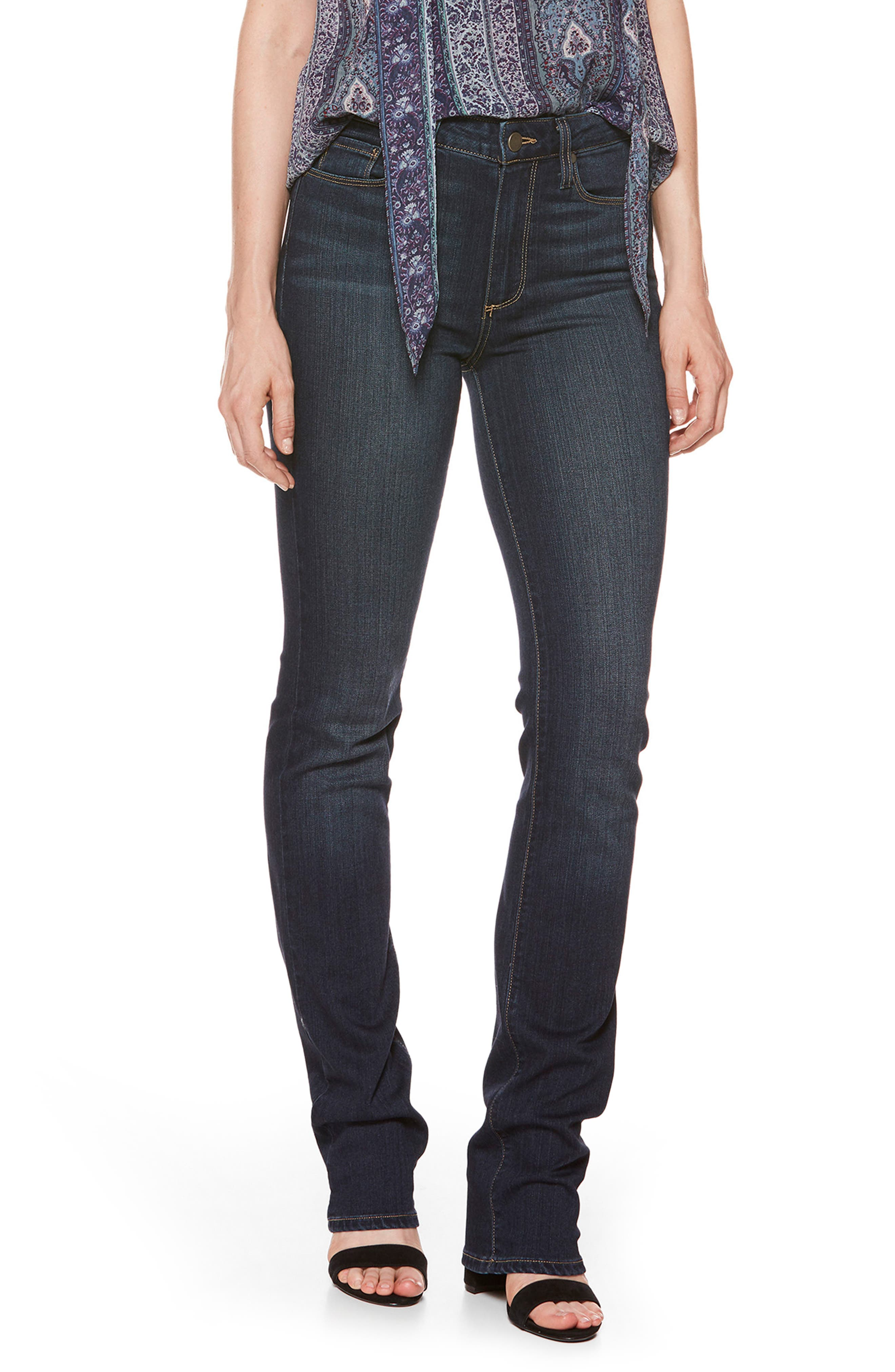 'Transcend - Hoxton' High Rise Straight Leg Jeans,                             Main thumbnail 1, color,                             400