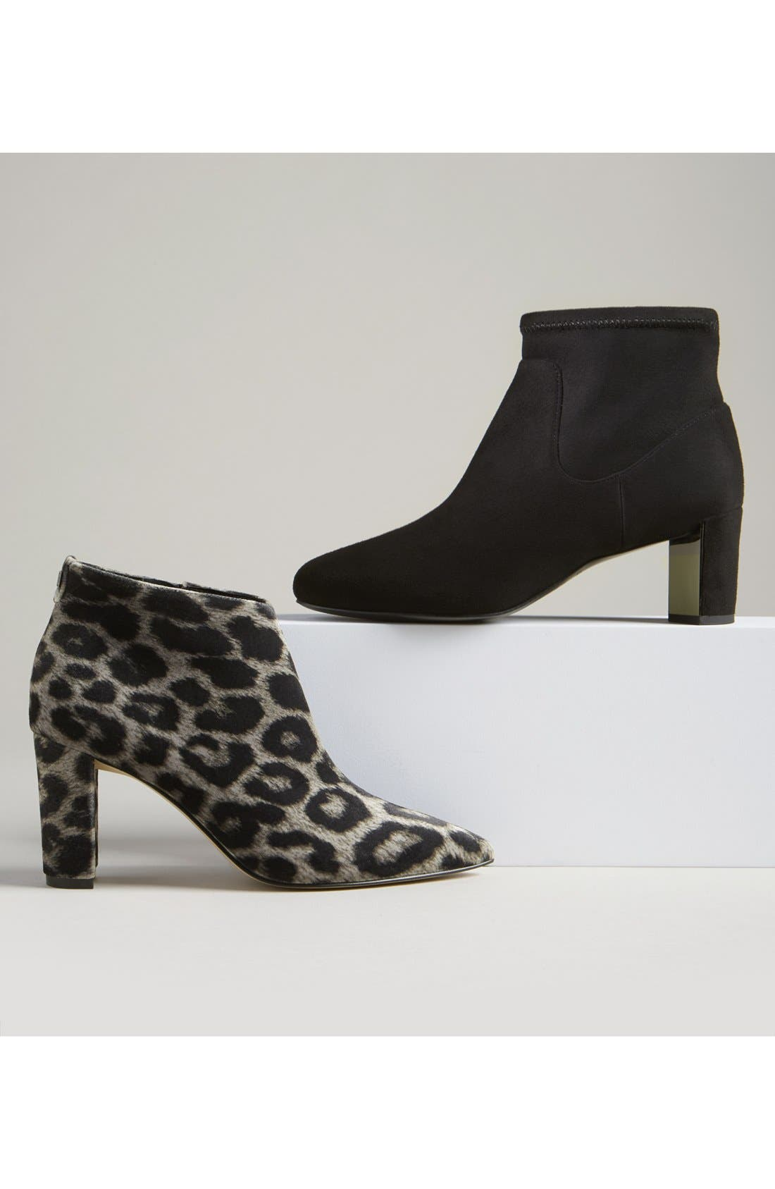 'Lettie' Pointy Toe Bootie,                             Alternate thumbnail 5, color,                             001