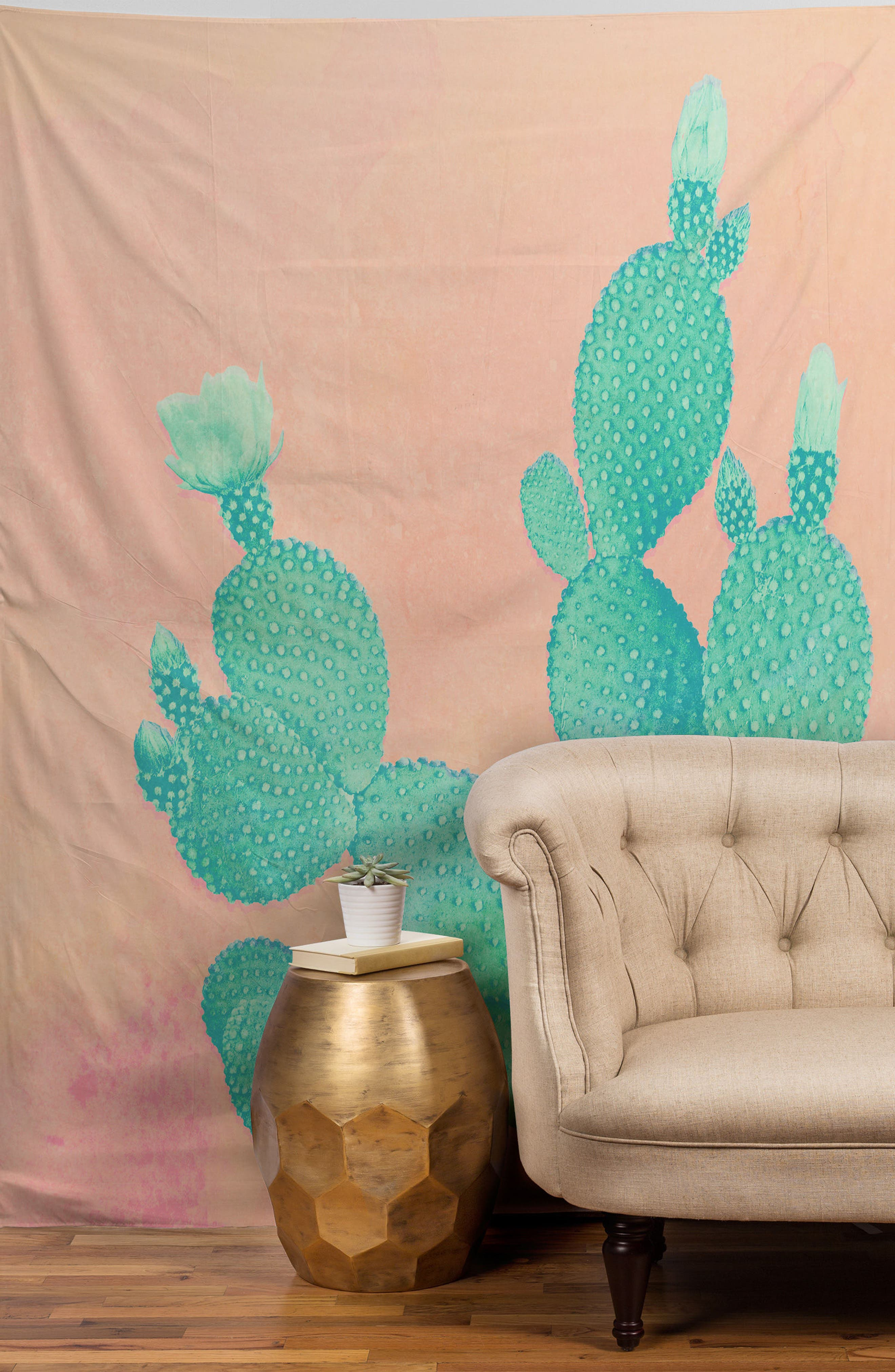 Pastel Cactus Tapestry,                             Alternate thumbnail 2, color,