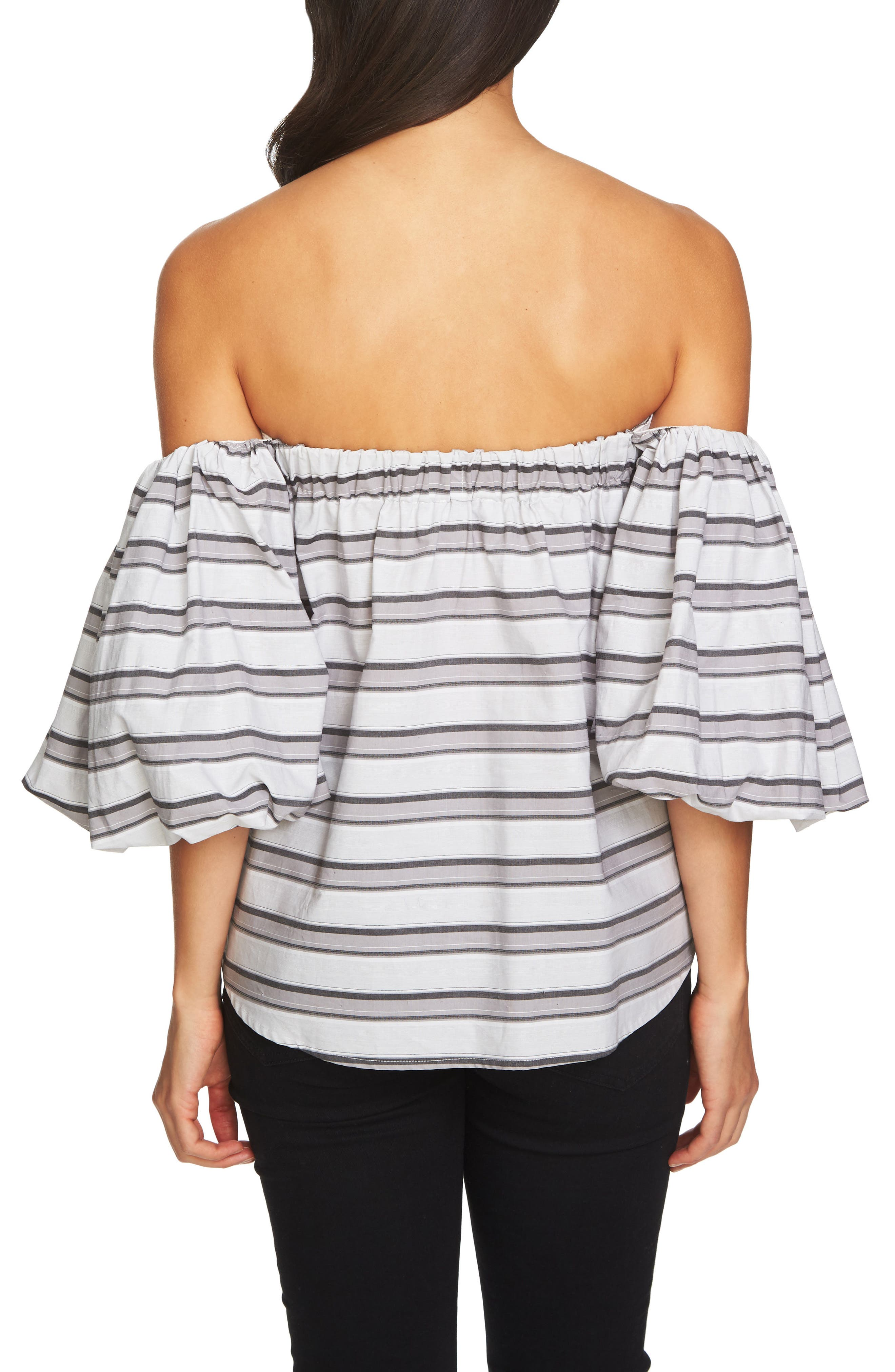 Off the Shoulder Puff Sleeve Top,                             Alternate thumbnail 2, color,