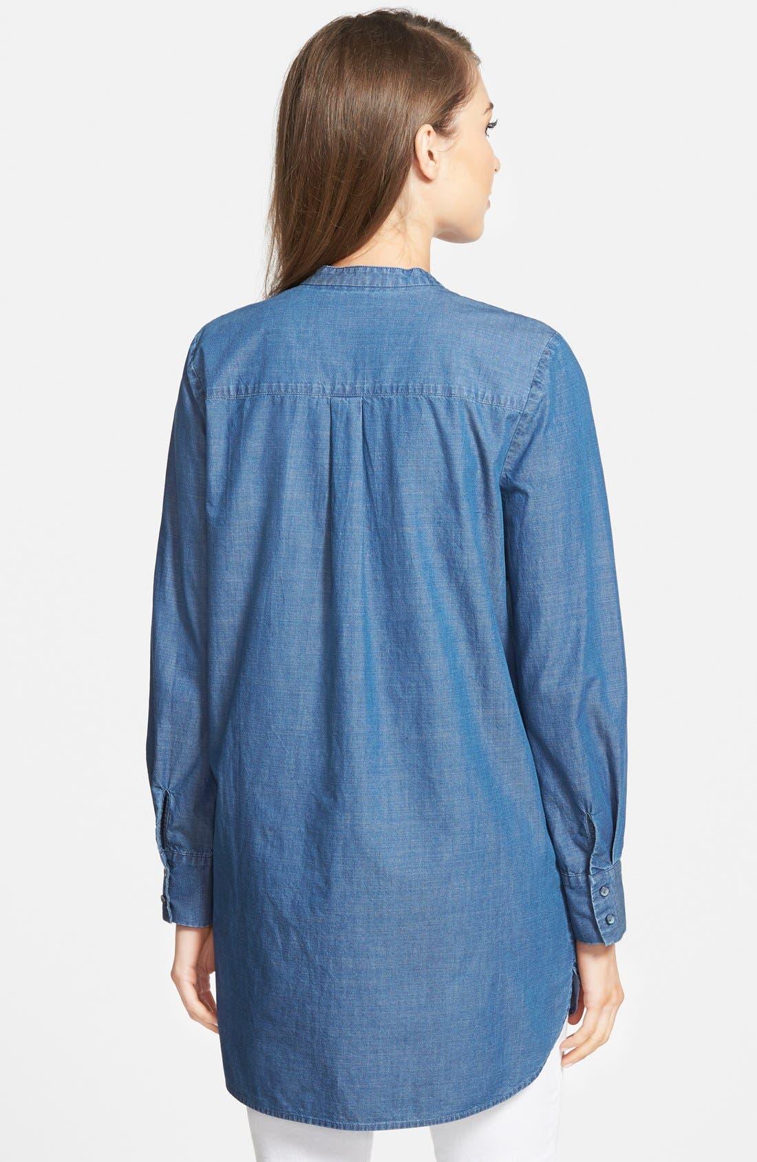 Denim Tunic Shirt,                             Alternate thumbnail 2, color,                             401