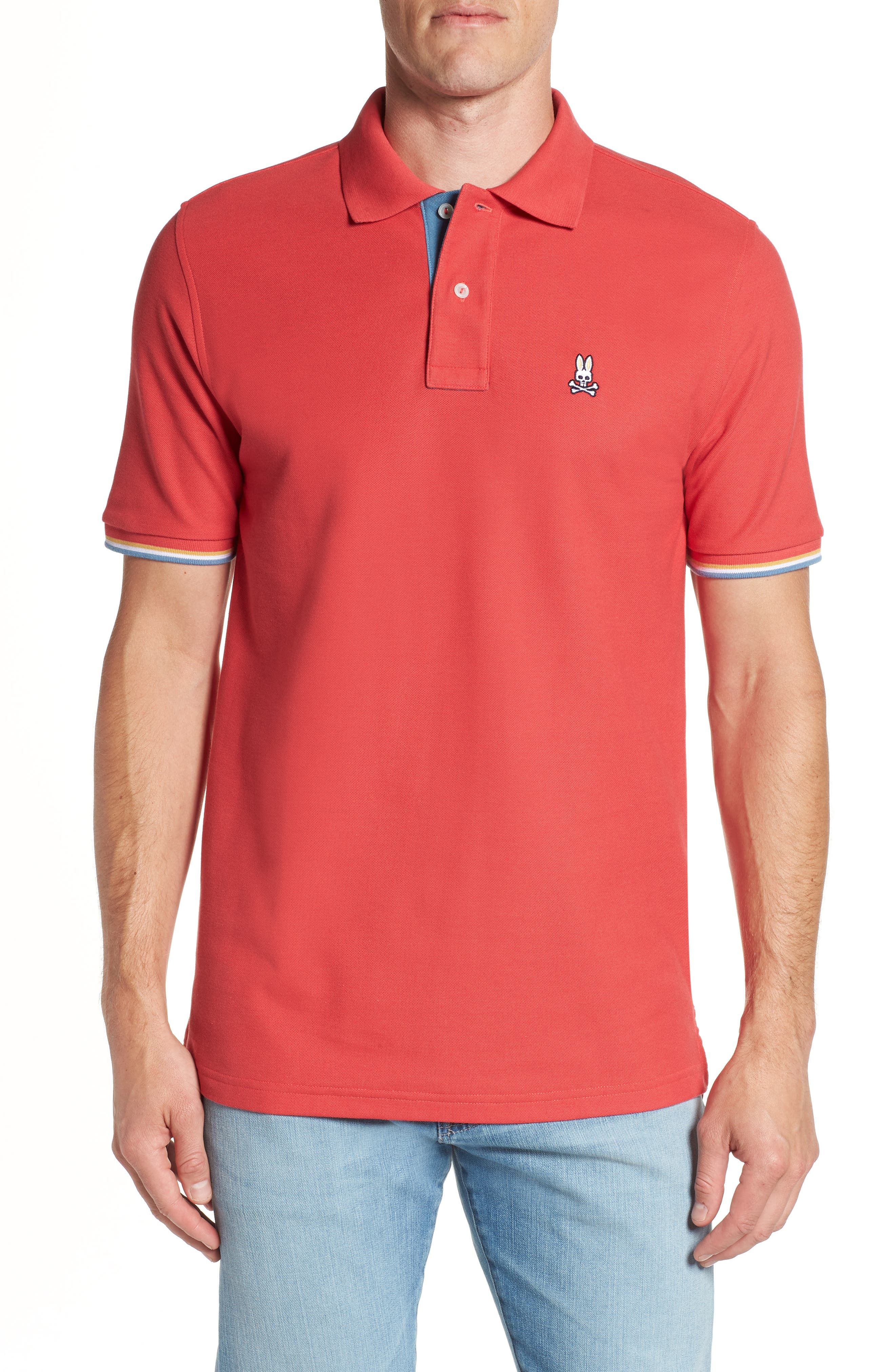 PSYCHO BUNNY St. Croix Regular Fit Polo Shirt in Cassis