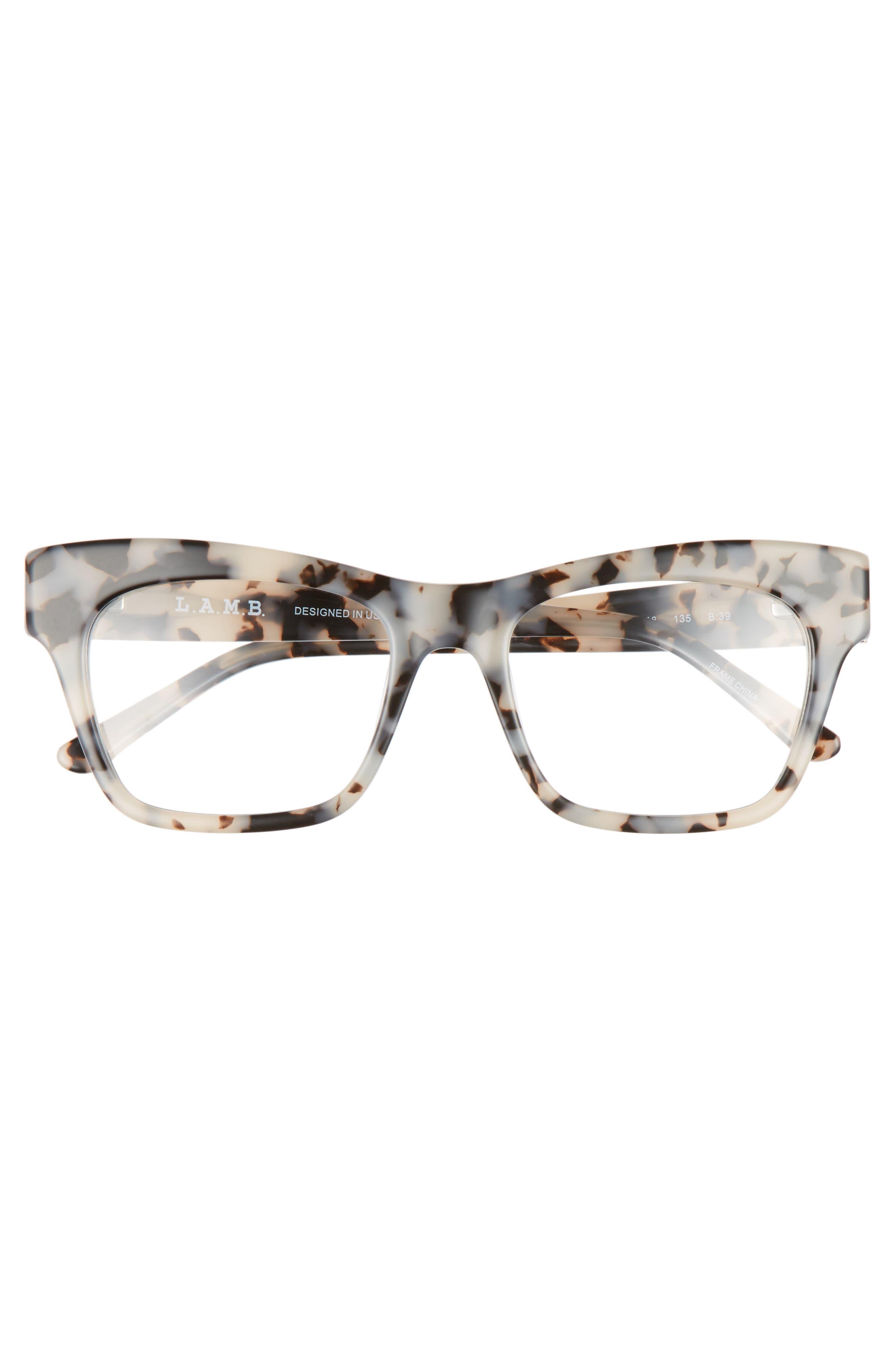 50mm Optical Rectangular Glasses,                             Alternate thumbnail 6, color,