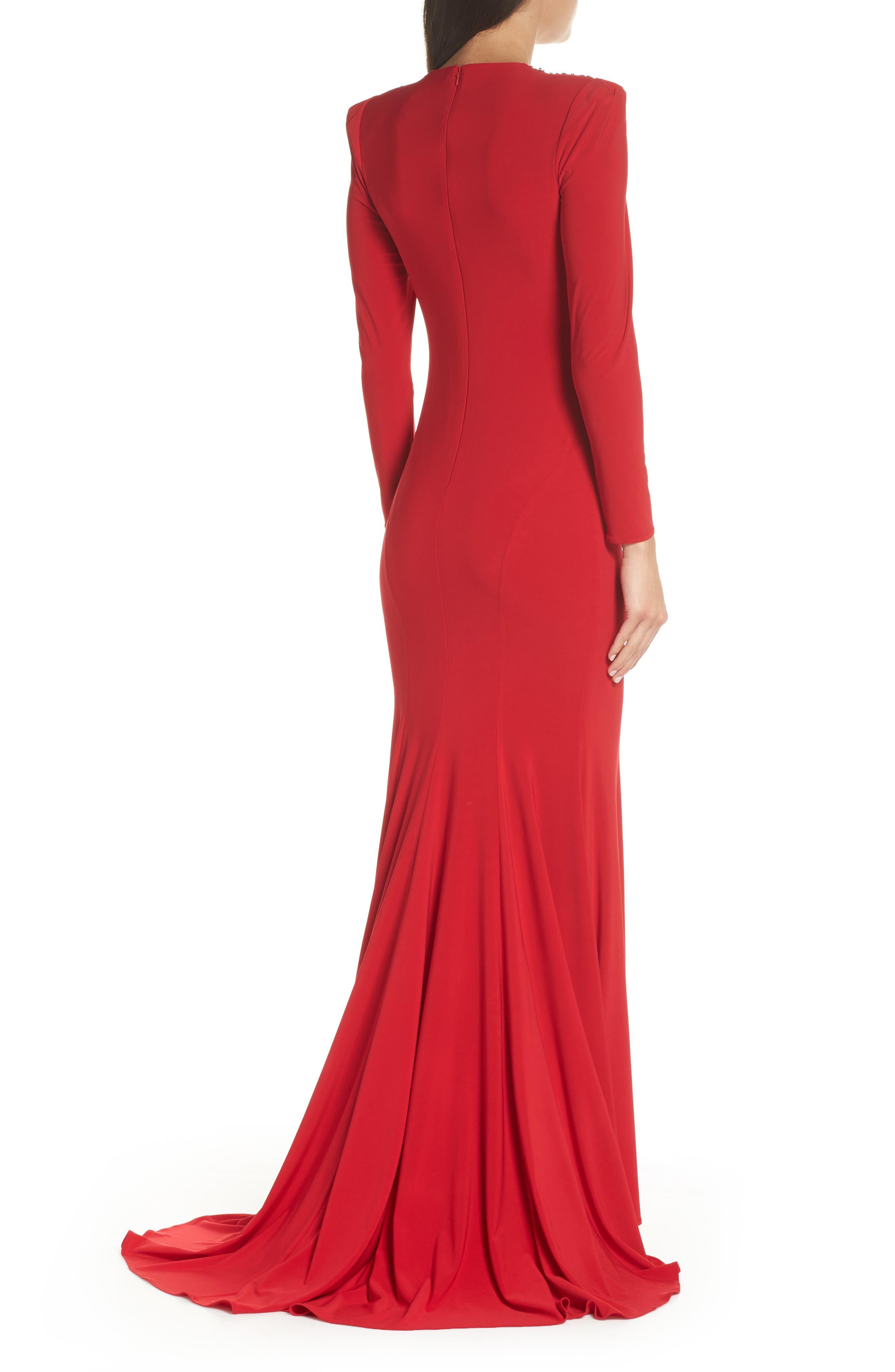 Mac Duggal Embellished Shoulder Jersey Gown,                             Alternate thumbnail 2, color,                             600