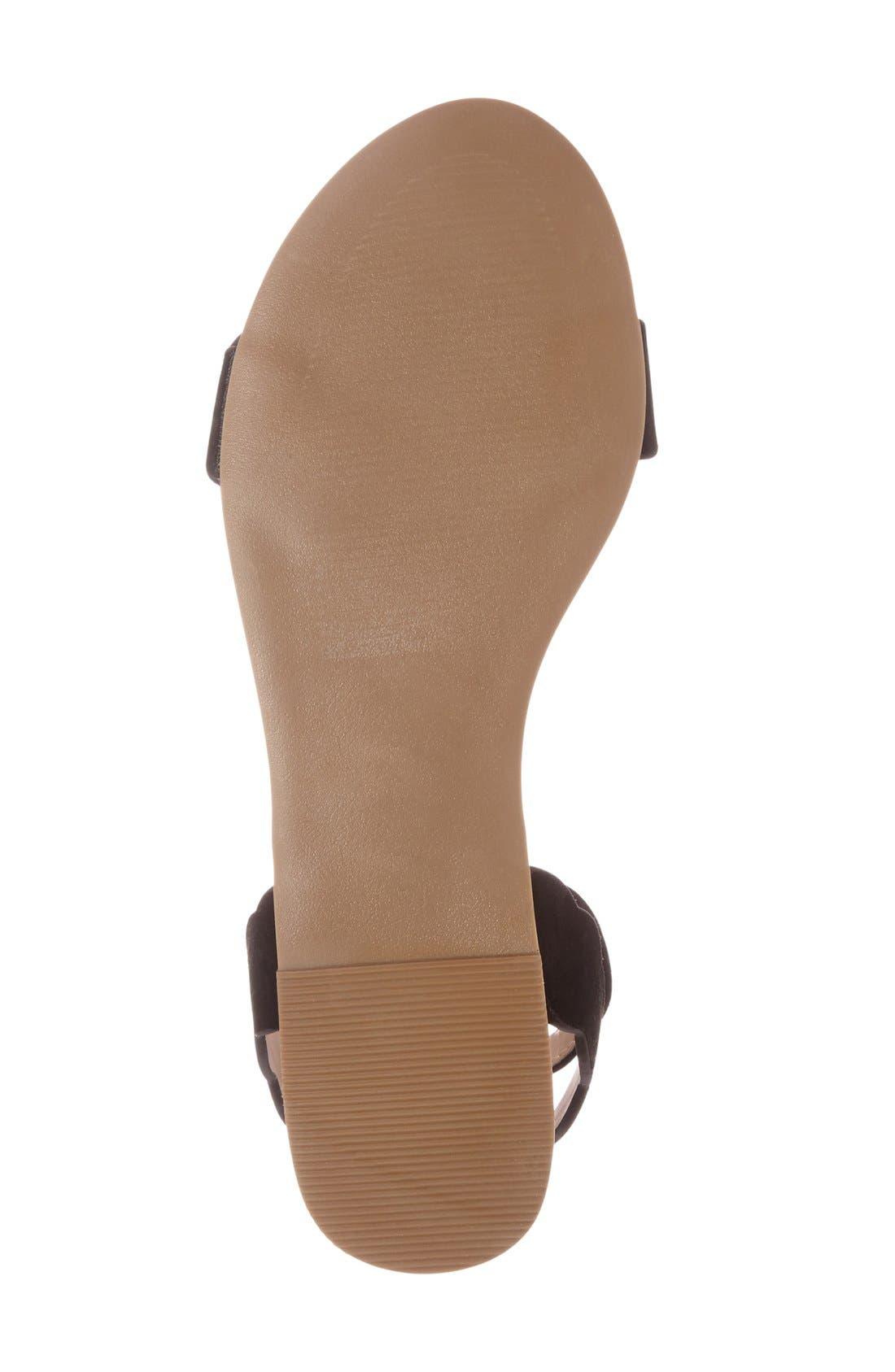 'Odette' Scalloped Ankle Strap Flat Sandal,                             Alternate thumbnail 17, color,
