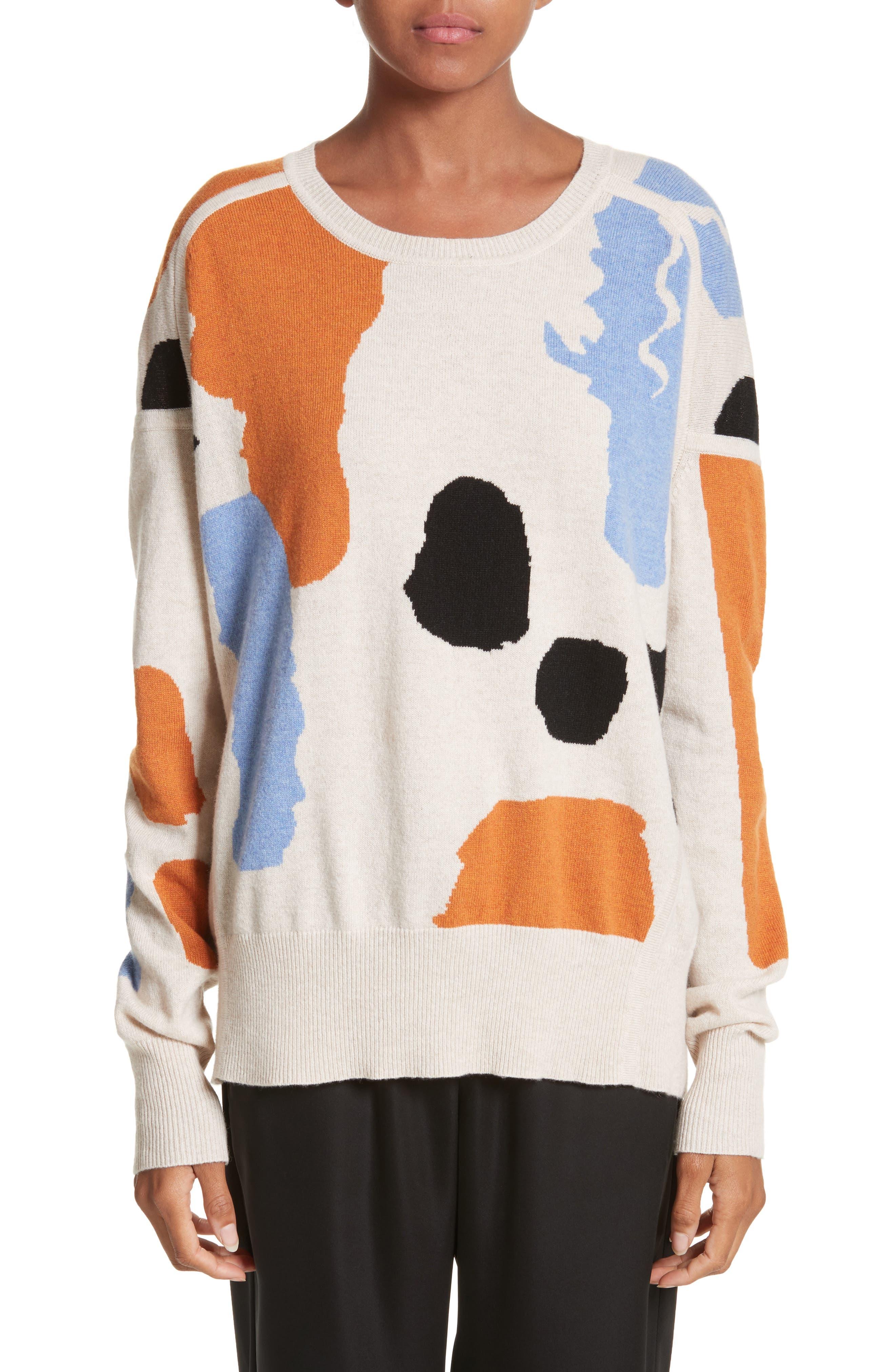 ZERO + MARIA CORNEJO Palette Cashmere & Merino Wool Sweater, Main, color, 902