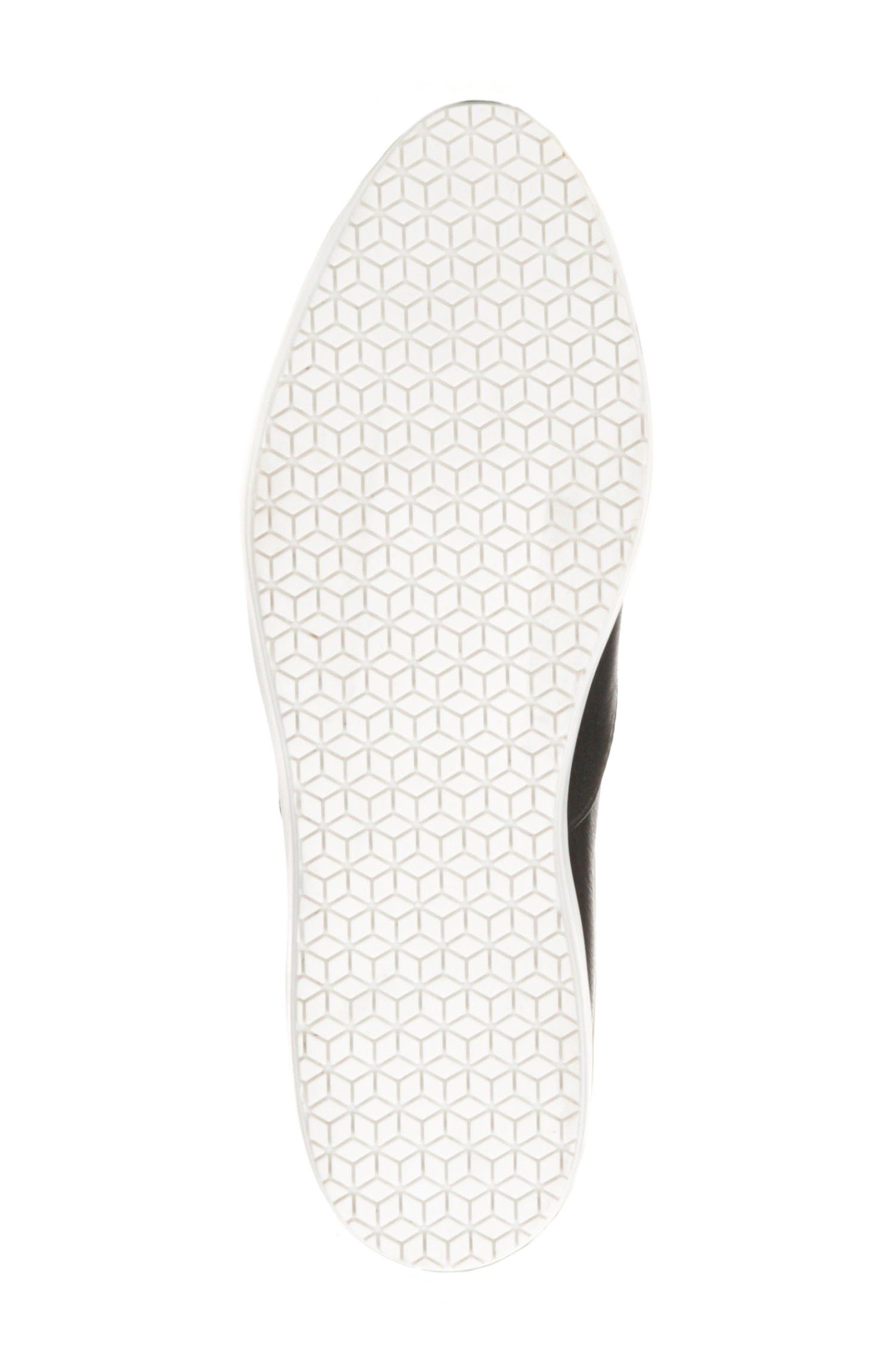 Blakely Tassel Zip Sneaker,                             Alternate thumbnail 6, color,                             001