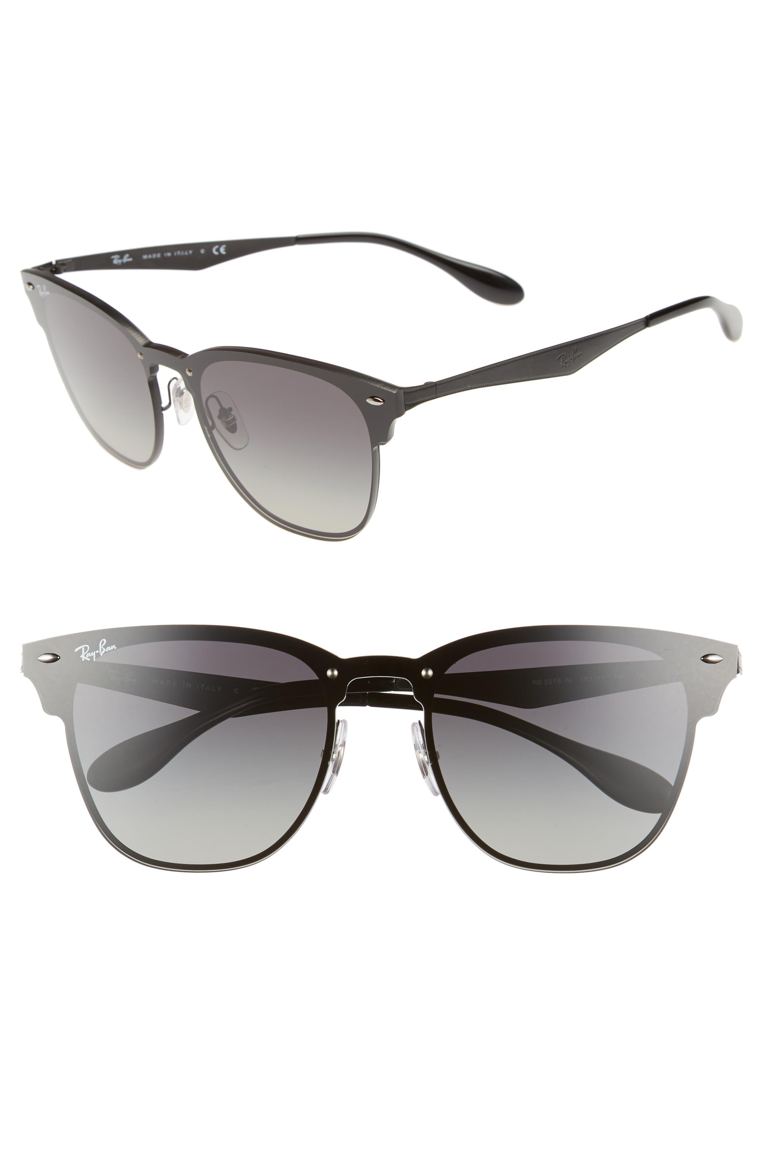 Blaze Clubmaster 47mm Sunglasses,                         Main,                         color, 001