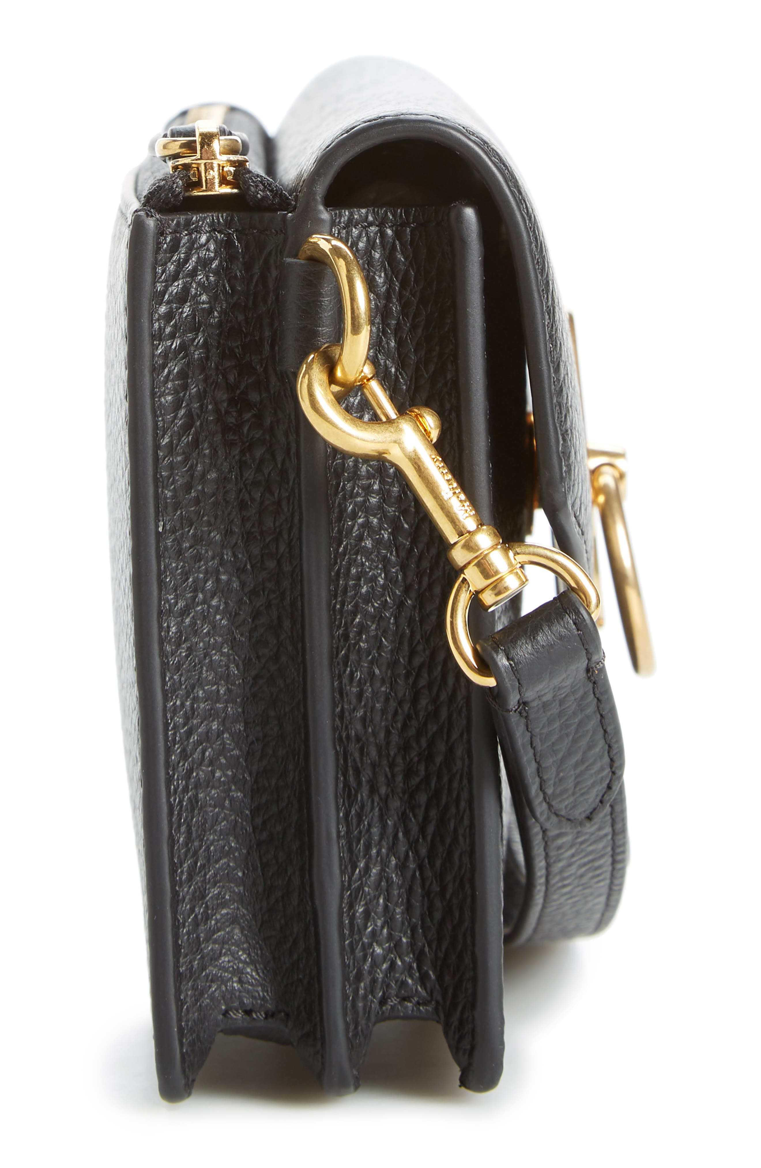 MULBERRY,                             Amberley iPhone Leather Clutch,                             Alternate thumbnail 5, color,                             BLACK