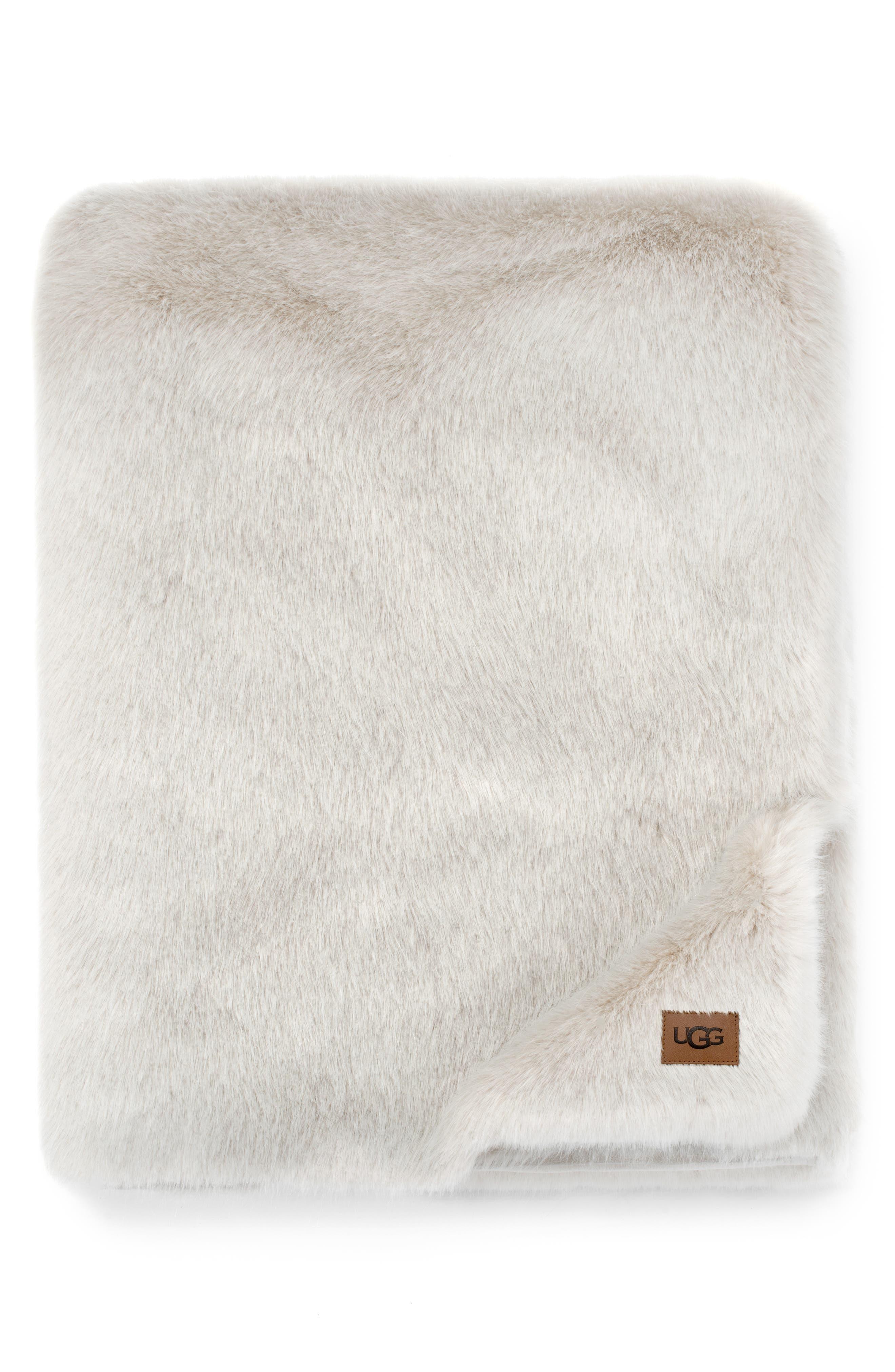 Shay Faux Fur Throw, Main, color, 250