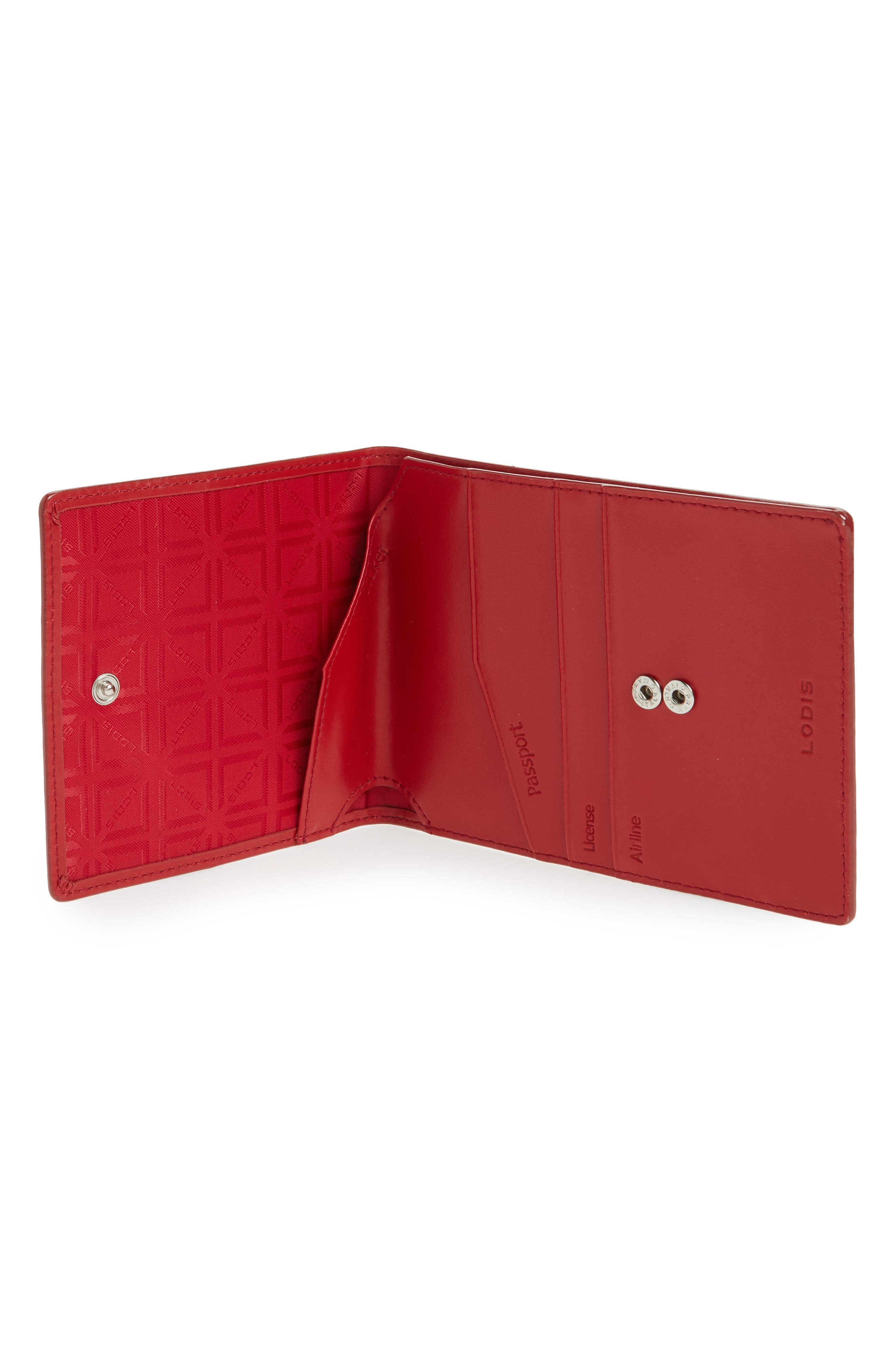LODIS Audrey Under Lock & Key Skyler Leather Passport Wallet,                             Alternate thumbnail 2, color,                             001