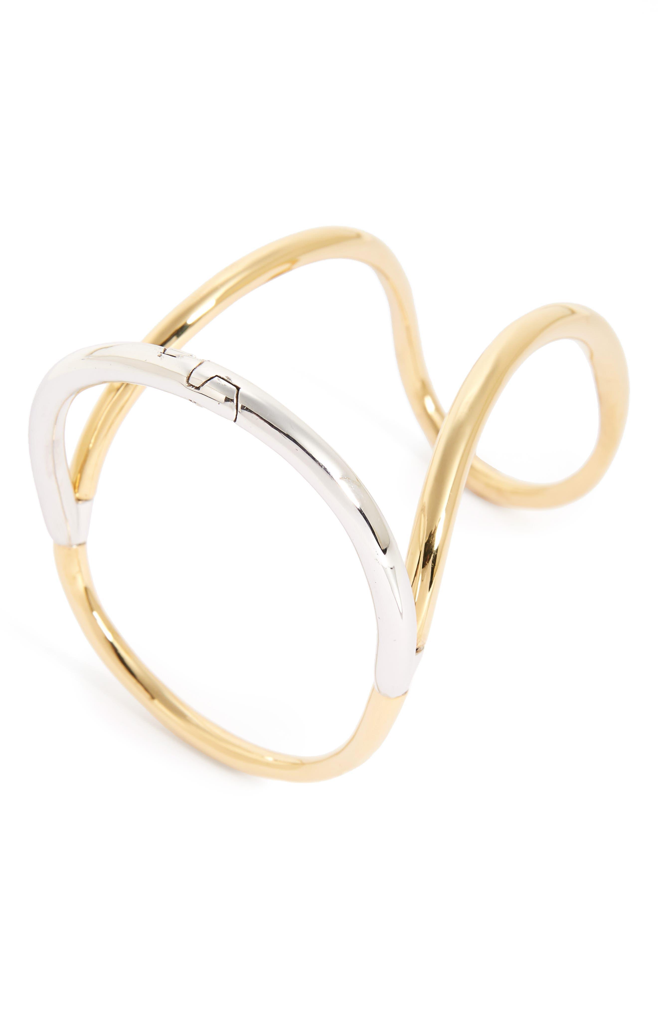 Neo Bond Bracelet,                         Main,                         color, VERMEIL/ SILVER