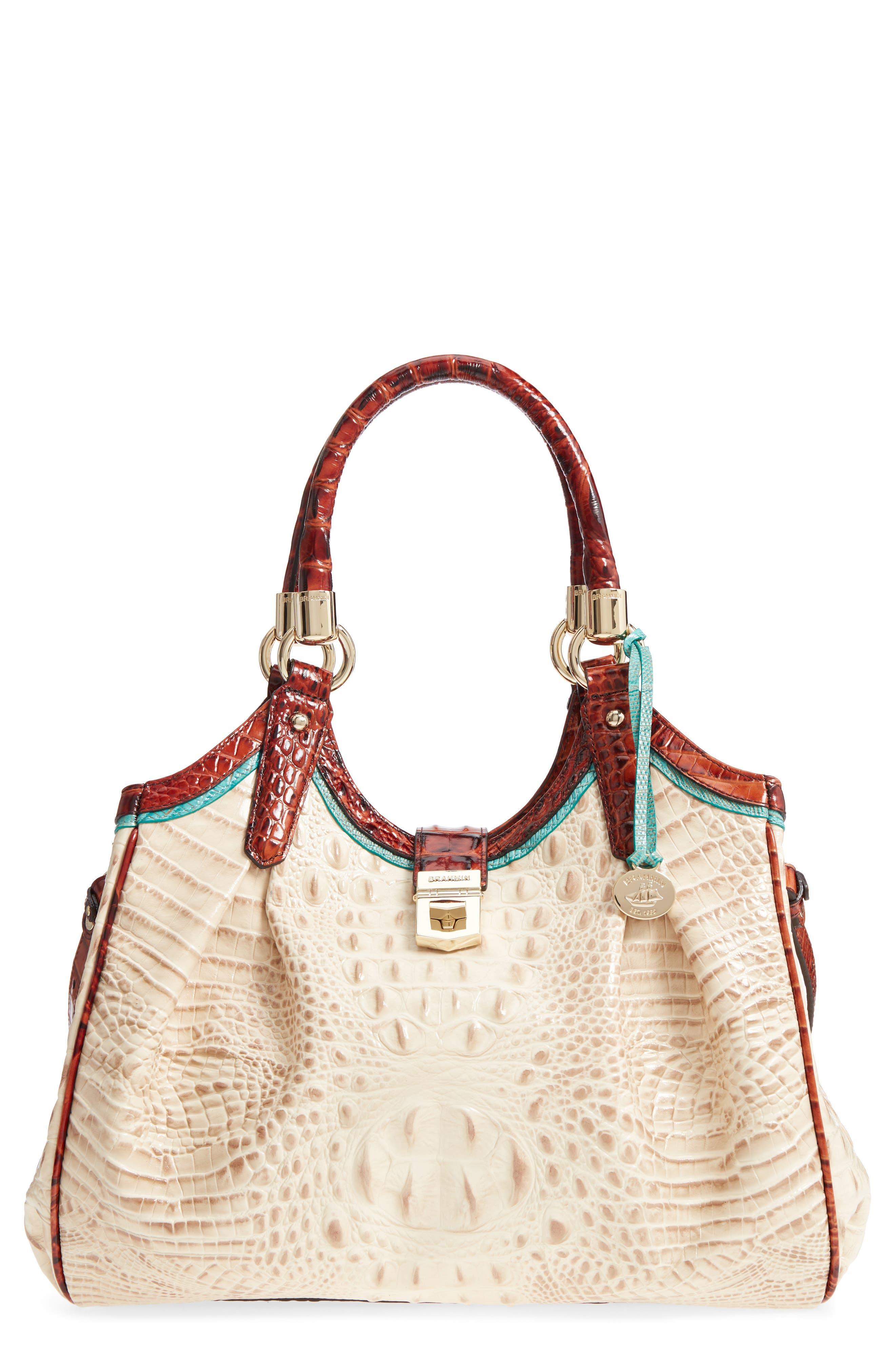 Elisa Leather Shoulder Bag,                         Main,                         color, VANILLA