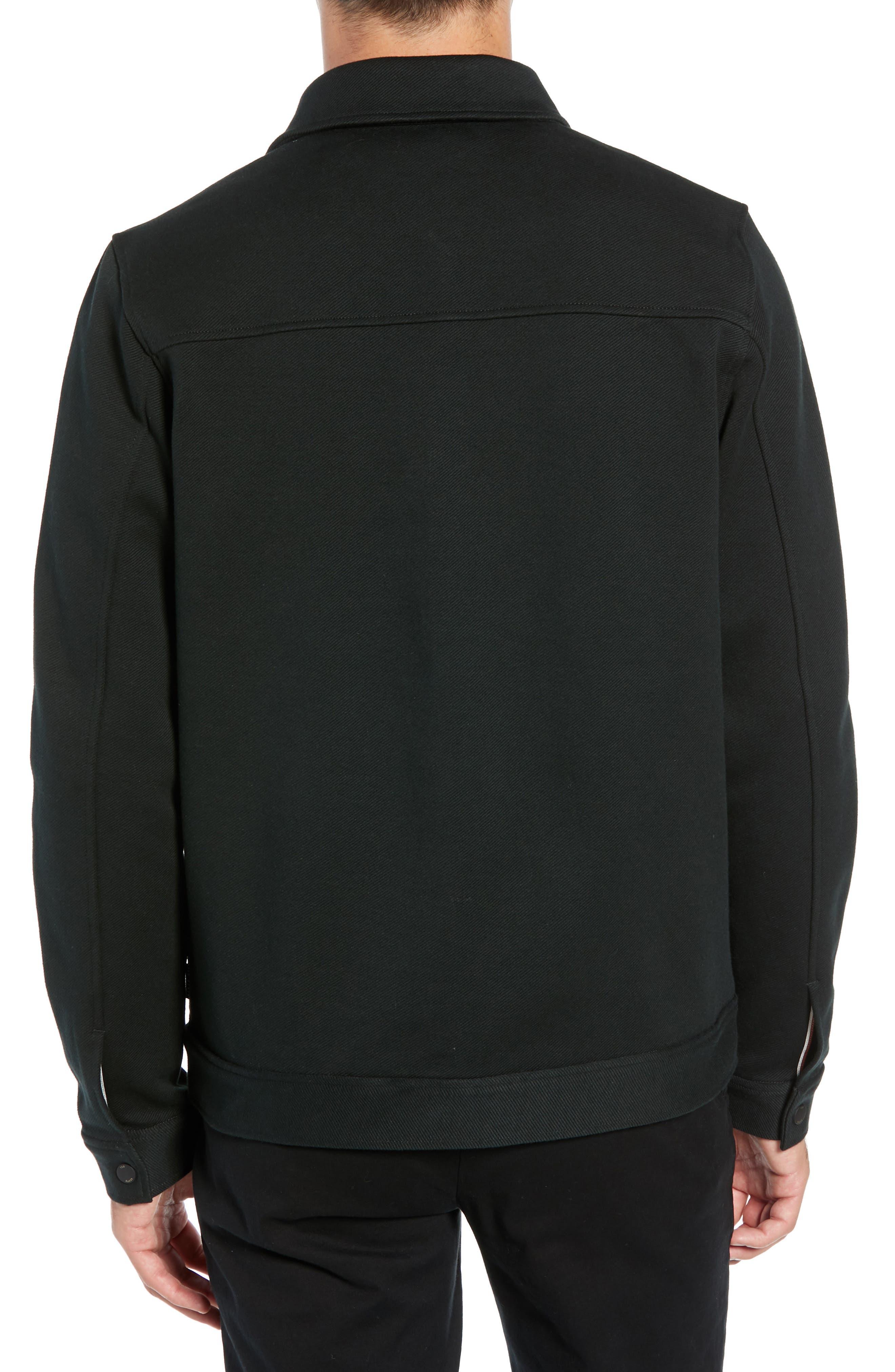 Danett Tall Twill Jacket,                             Alternate thumbnail 2, color,                             BLACK