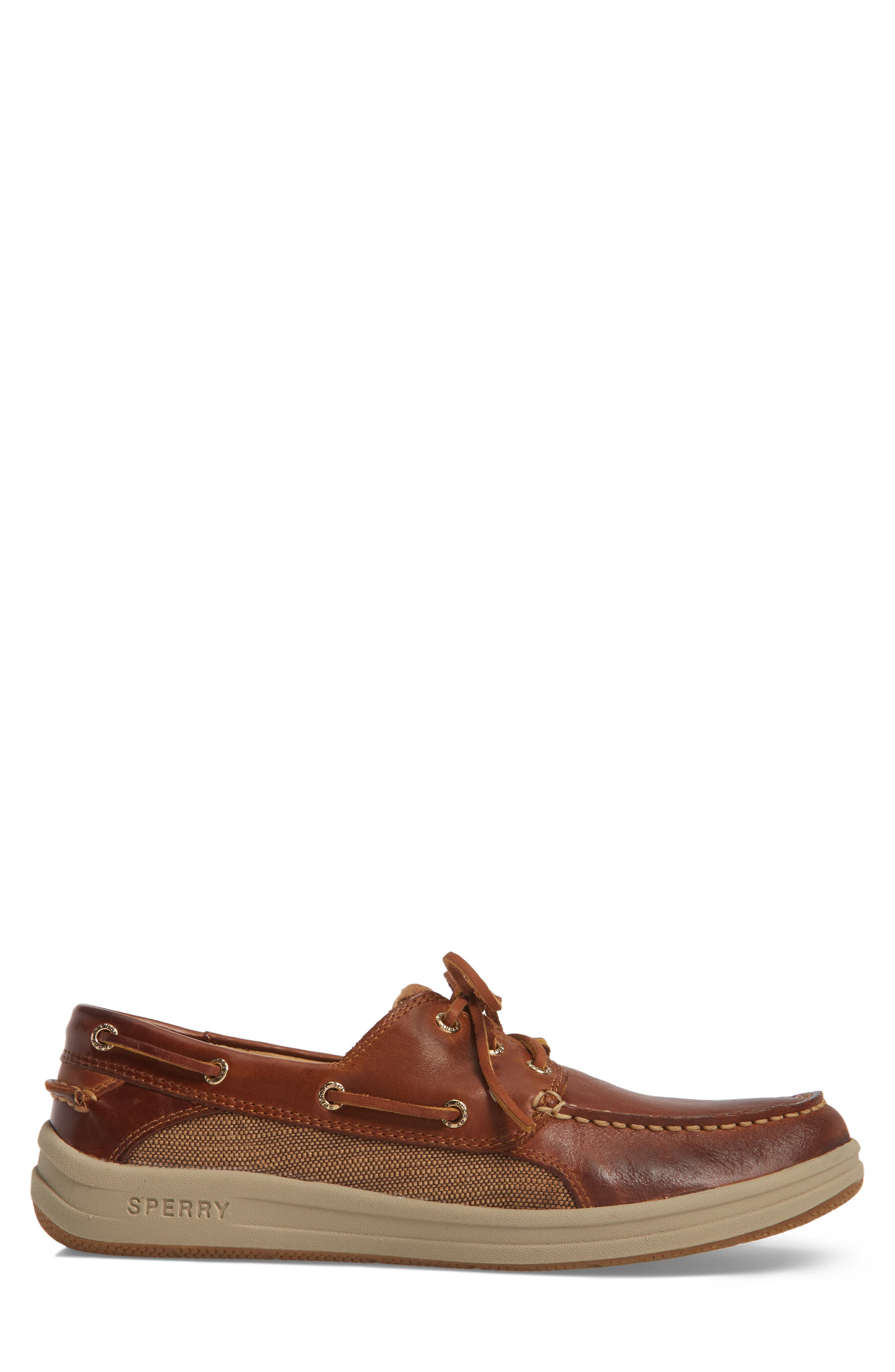 Gold Cup Gamefish Boat Shoe,                             Alternate thumbnail 3, color,                             BROWN LEATHER