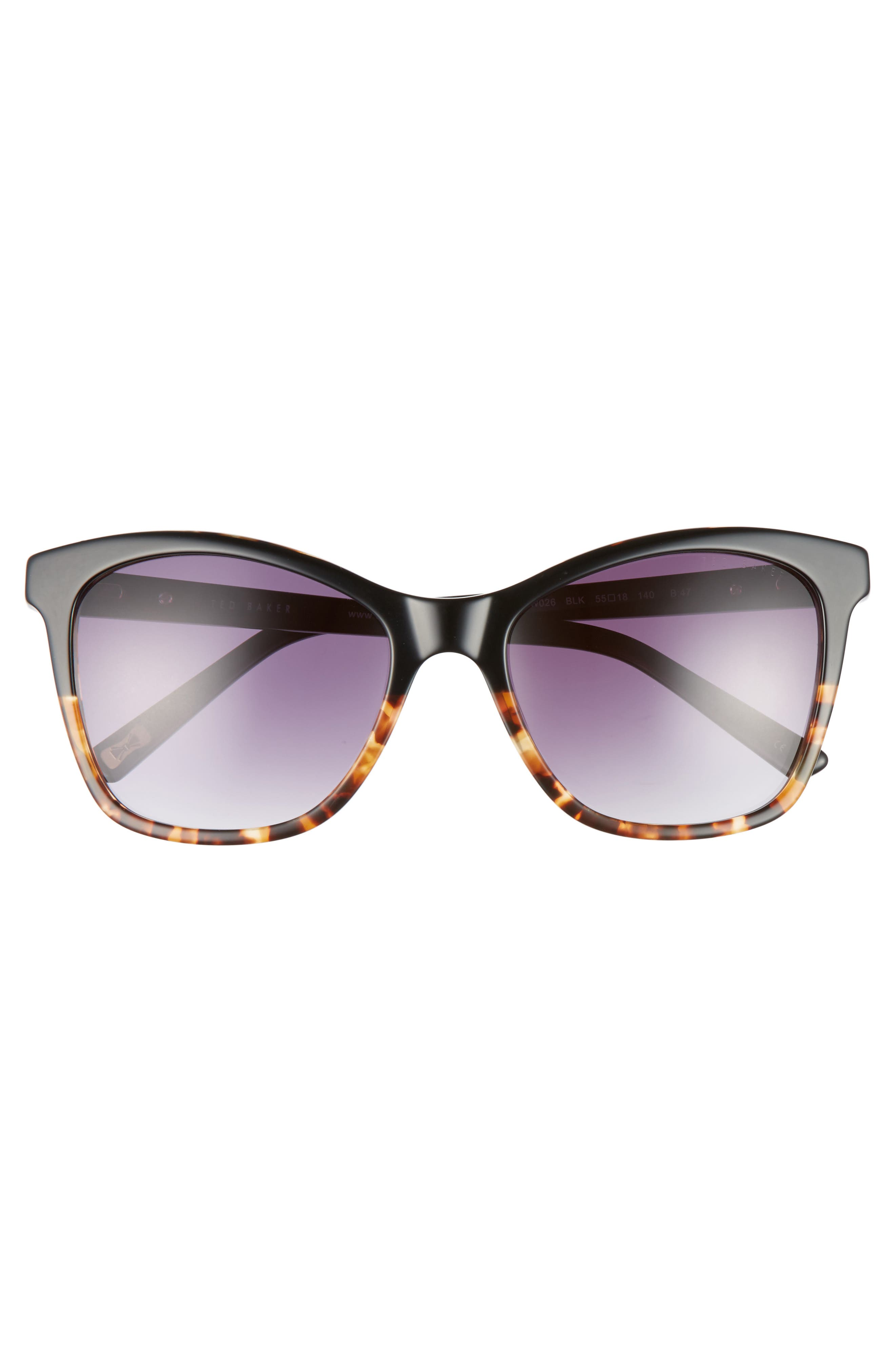 55mm Cat Eye Sunglasses,                             Alternate thumbnail 5, color,