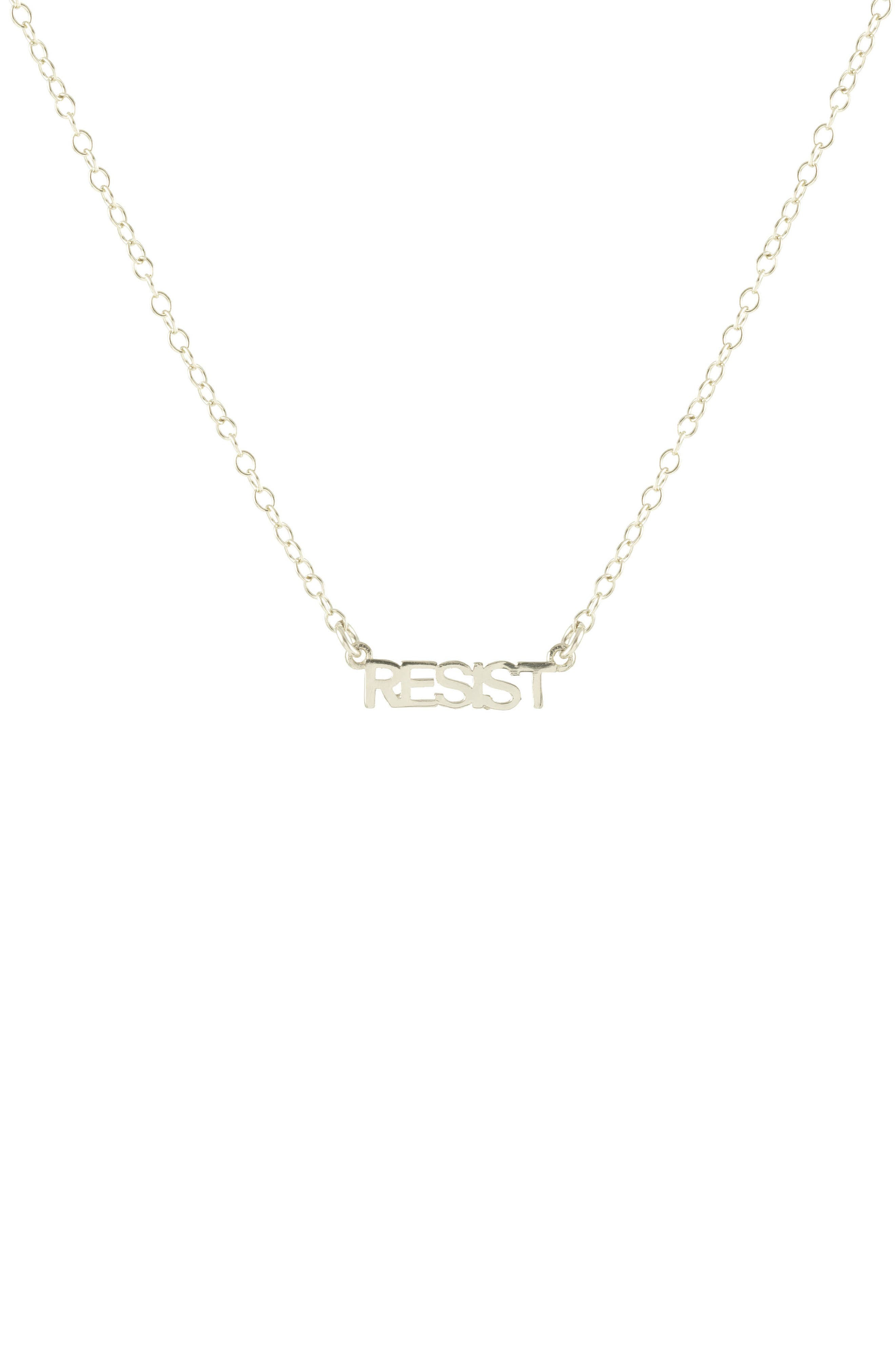Resist Script Necklace,                         Main,                         color, 040