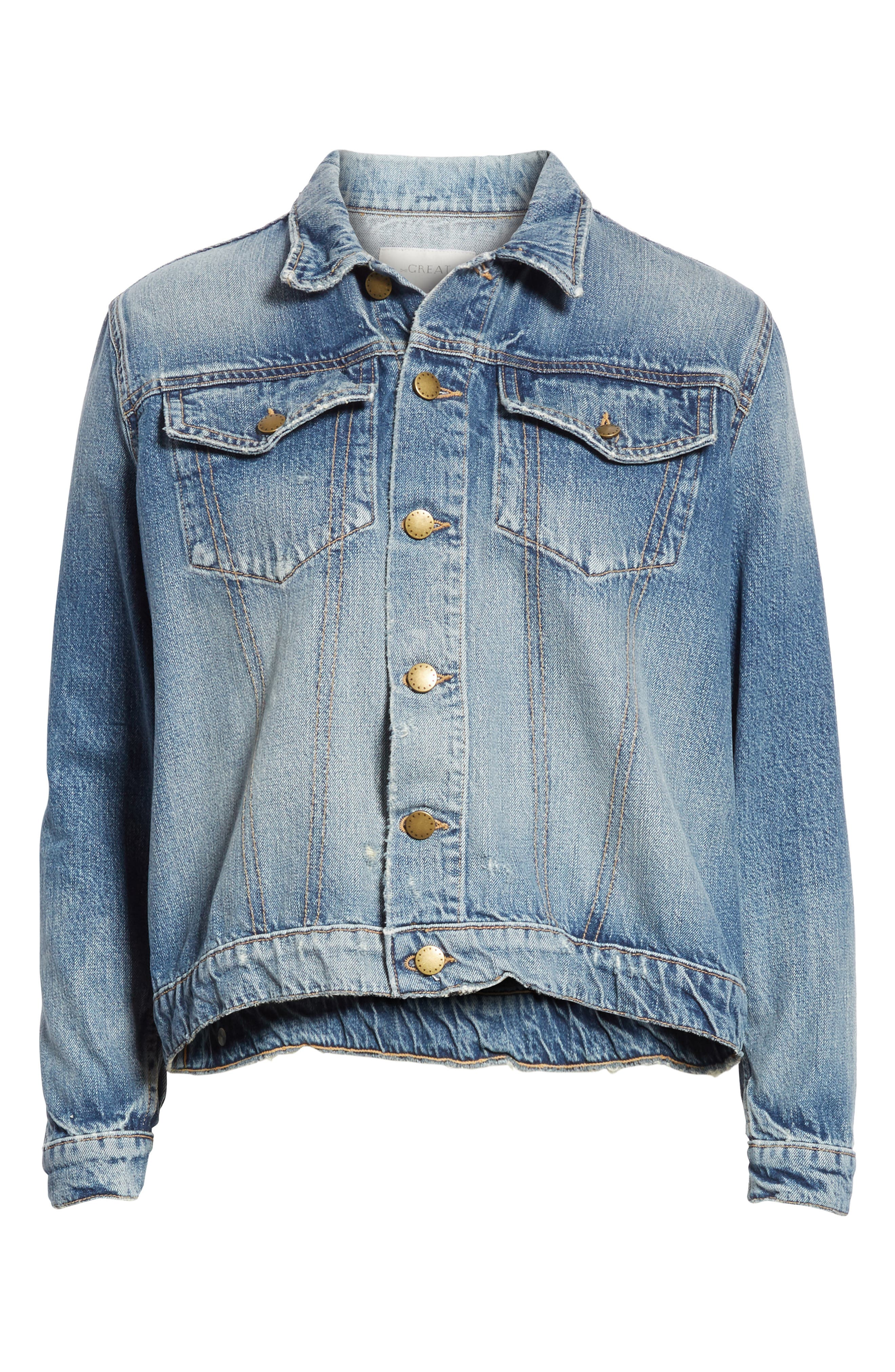 The Boxy Jean Jacket,                             Alternate thumbnail 5, color,                             435