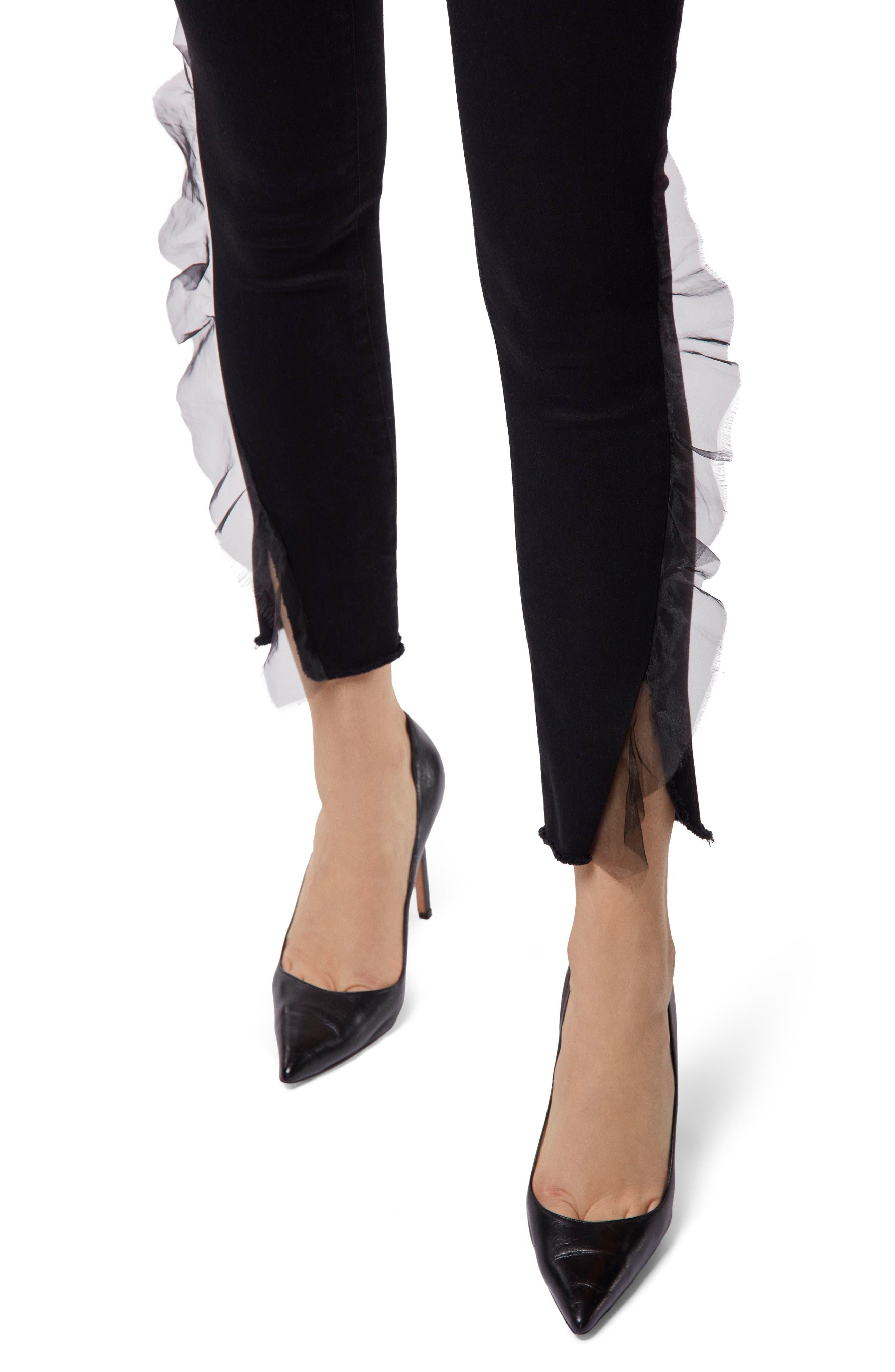 835 Split Hem Crop Skinny Jeans,                             Alternate thumbnail 4, color,                             008