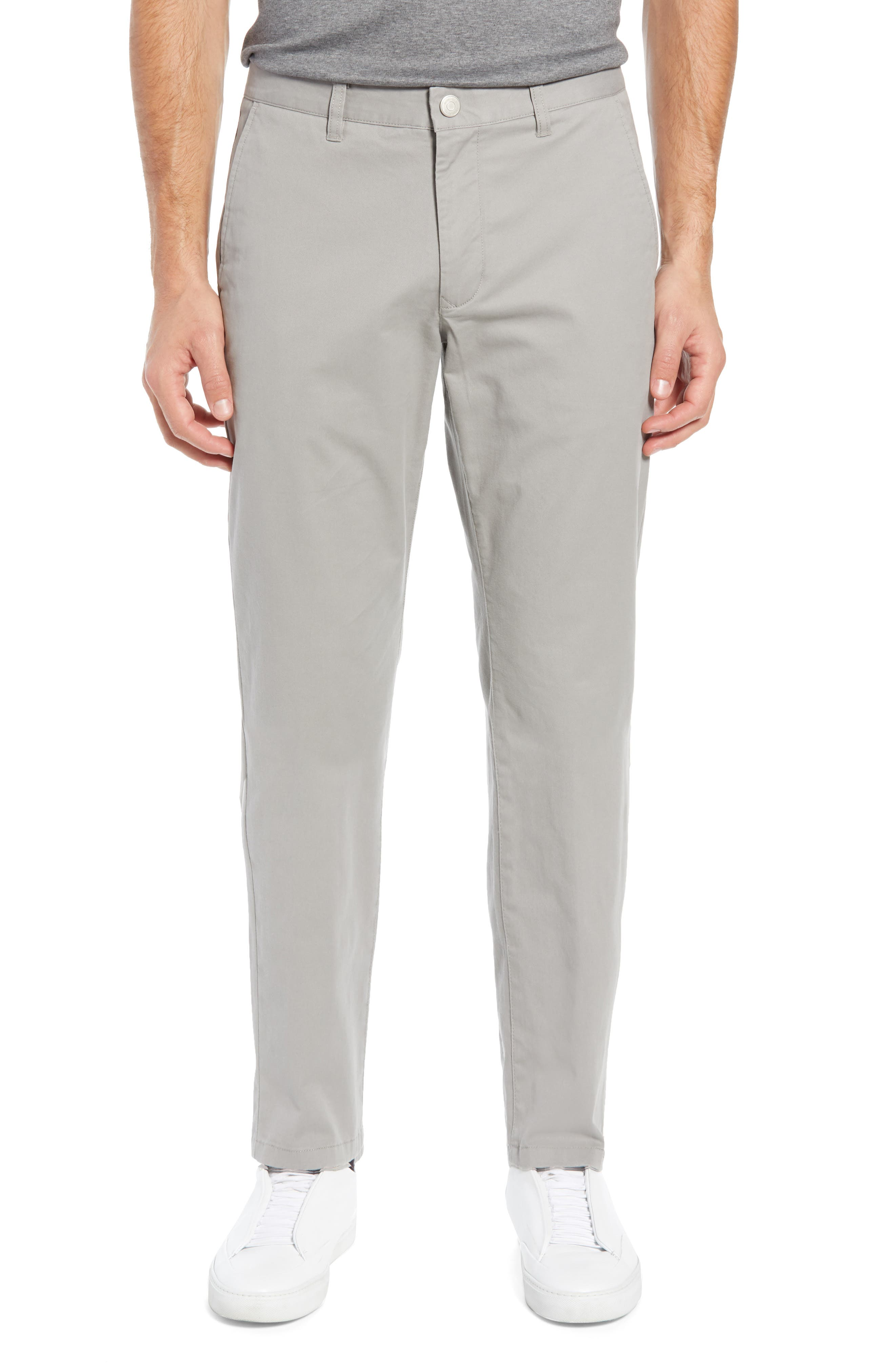 BONOBOS Athletic Fit Stretch Washed Chinos, Main, color, GREY DOGS