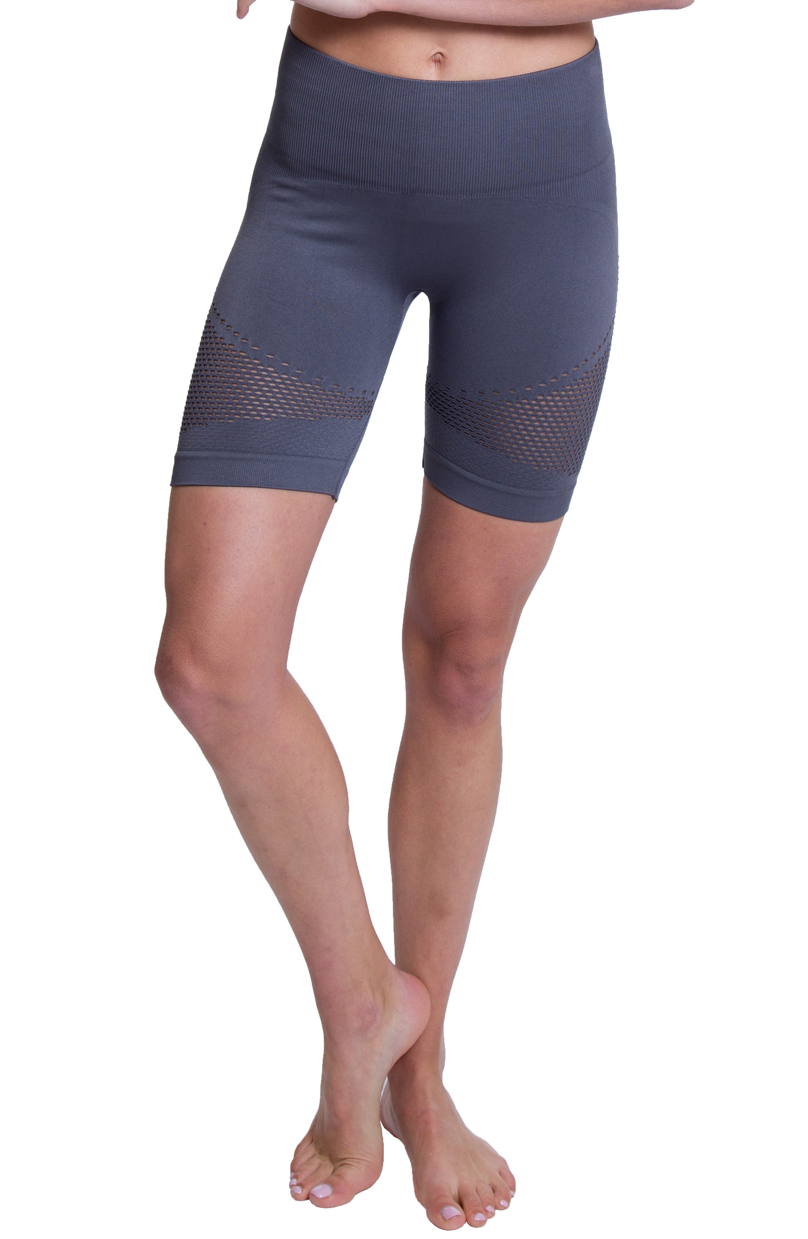Momentum Seamless Biker Shorts,                             Main thumbnail 1, color,                             SHARK