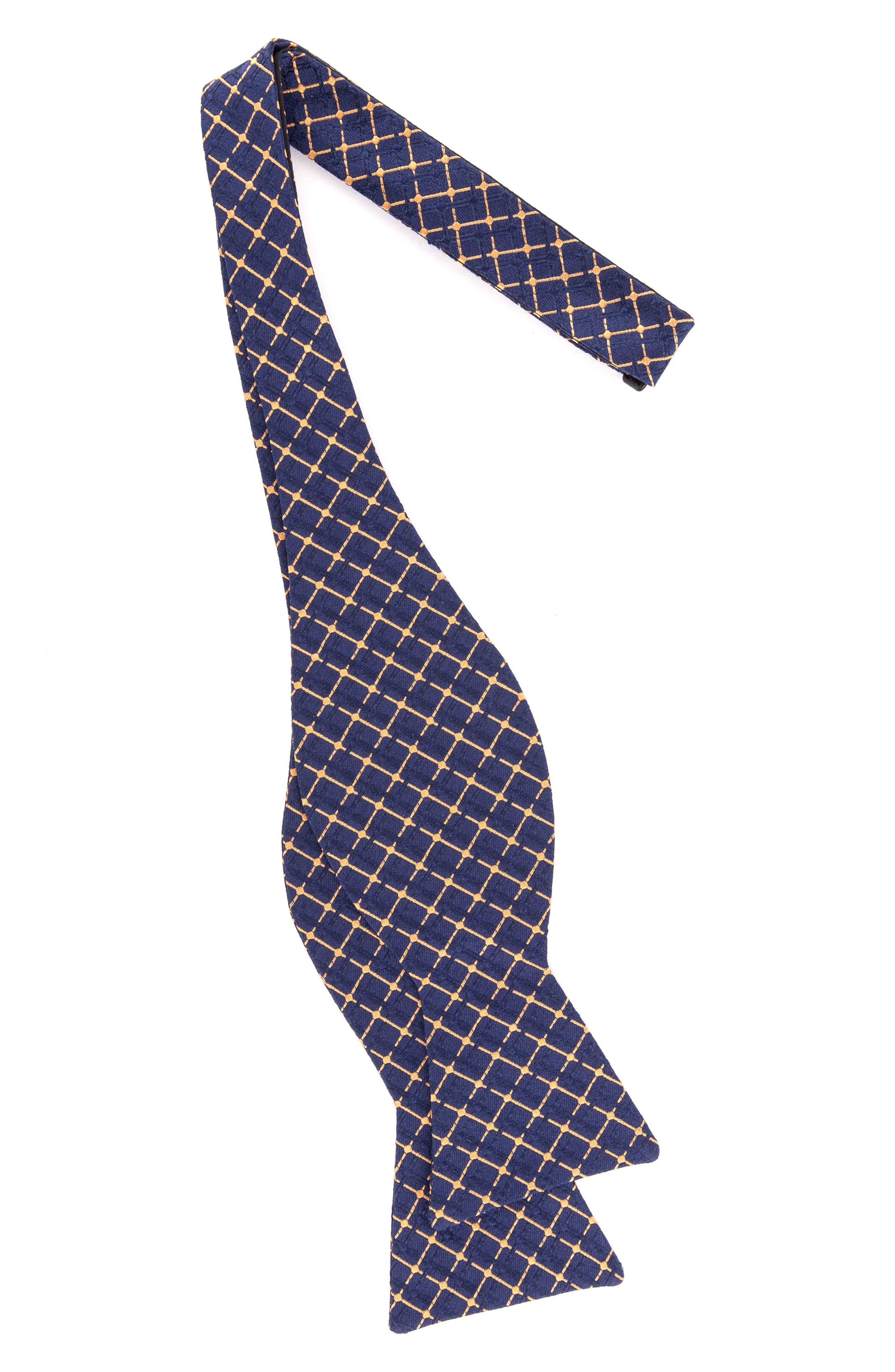 Superb Check Silk Bow Tie,                             Alternate thumbnail 12, color,