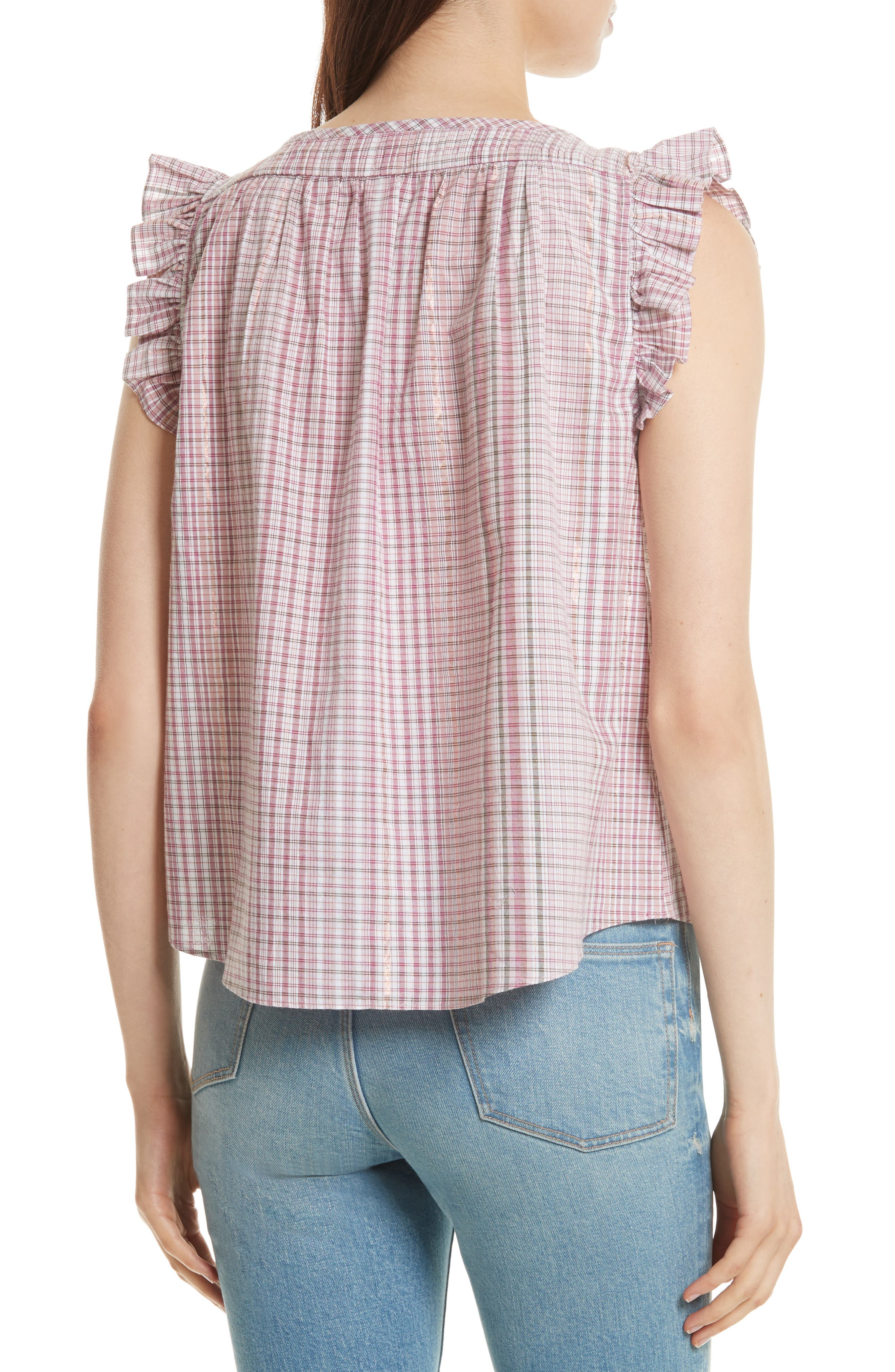 Lurex<sup>®</sup> Plaid Top,                             Alternate thumbnail 2, color,