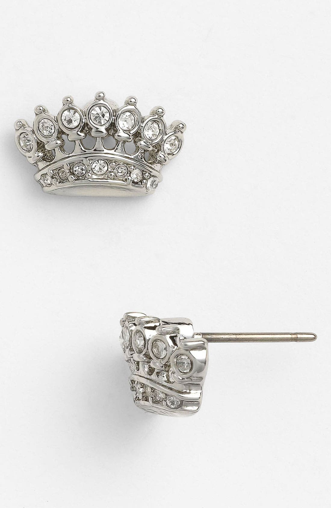 Crown Stud Earrings, Main, color, 040