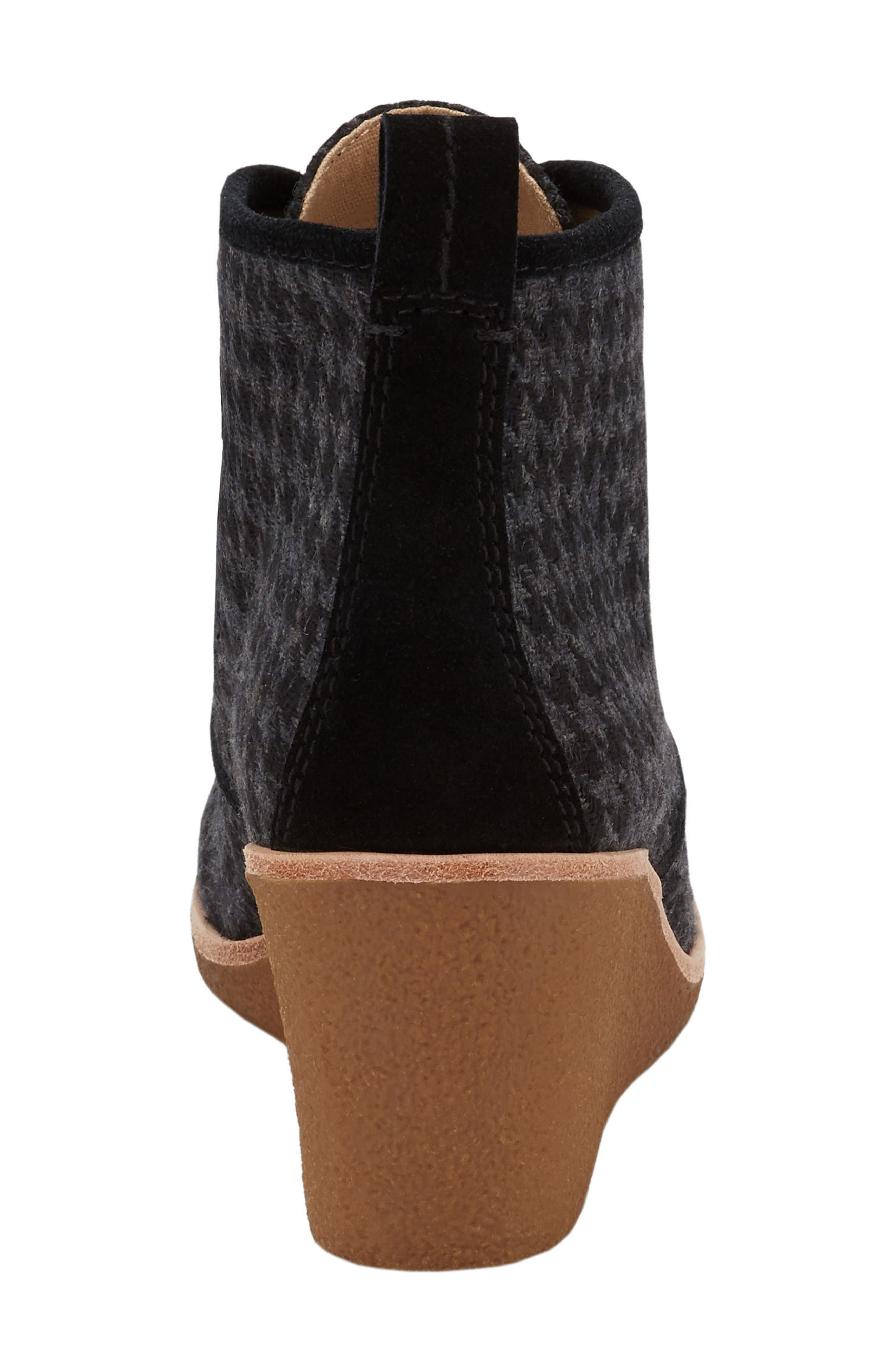 Rosa Wedge Bootie,                             Alternate thumbnail 4, color,                             001