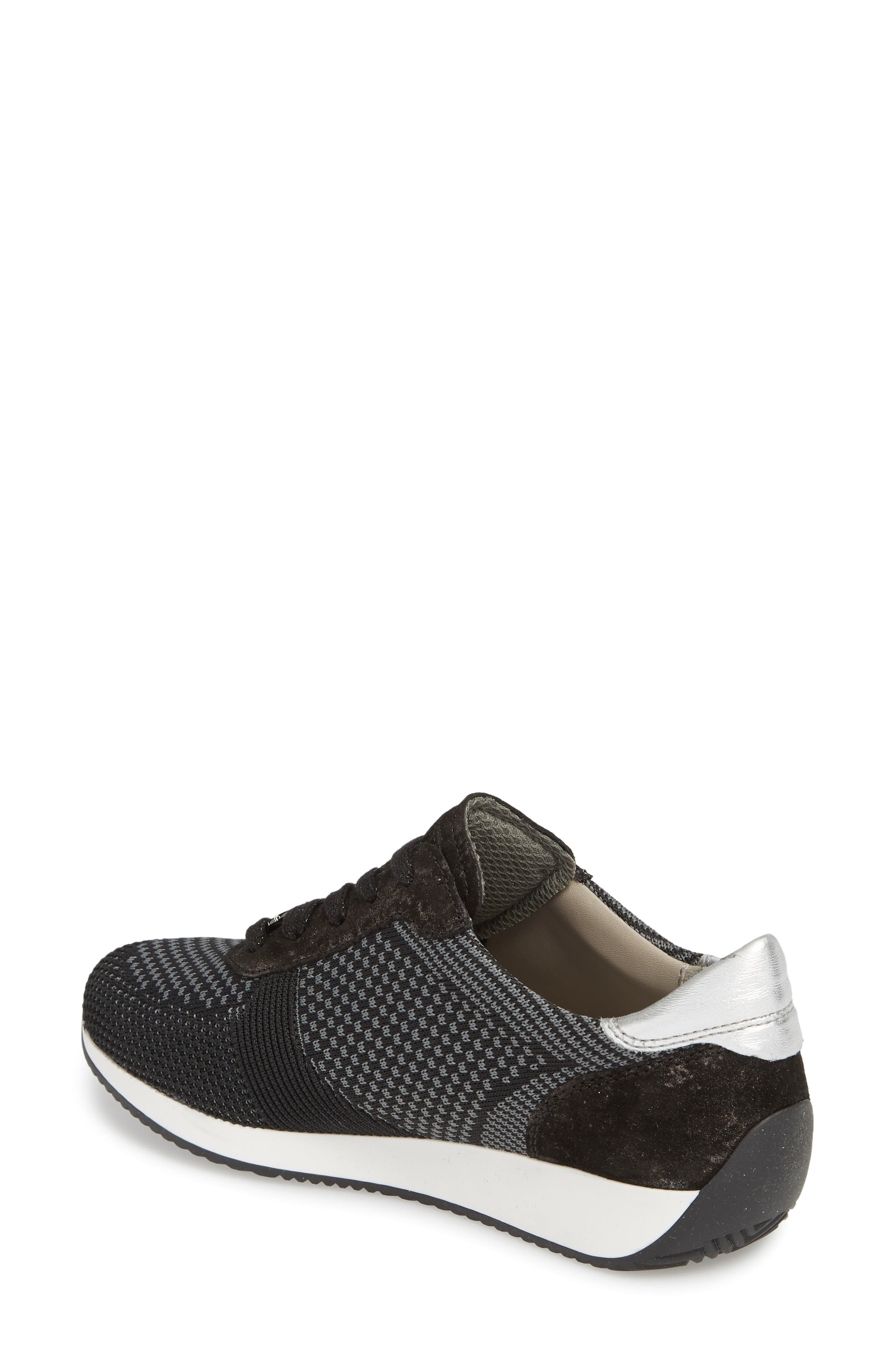 Lilly Sneaker,                             Alternate thumbnail 2, color,                             BLACK FABRIC
