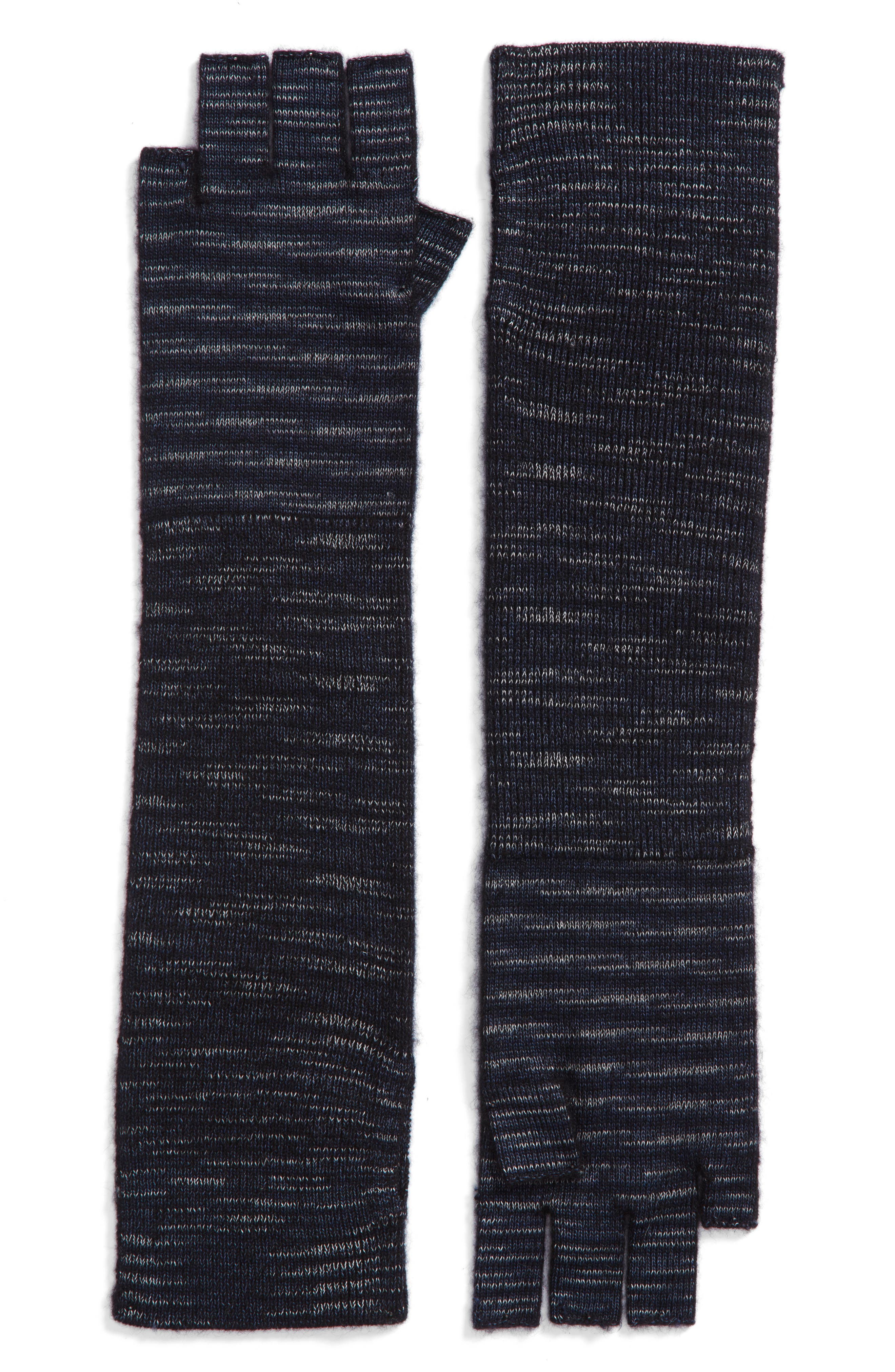 Space Dye Ribbed Arm Warmers,                             Main thumbnail 1, color,                             001