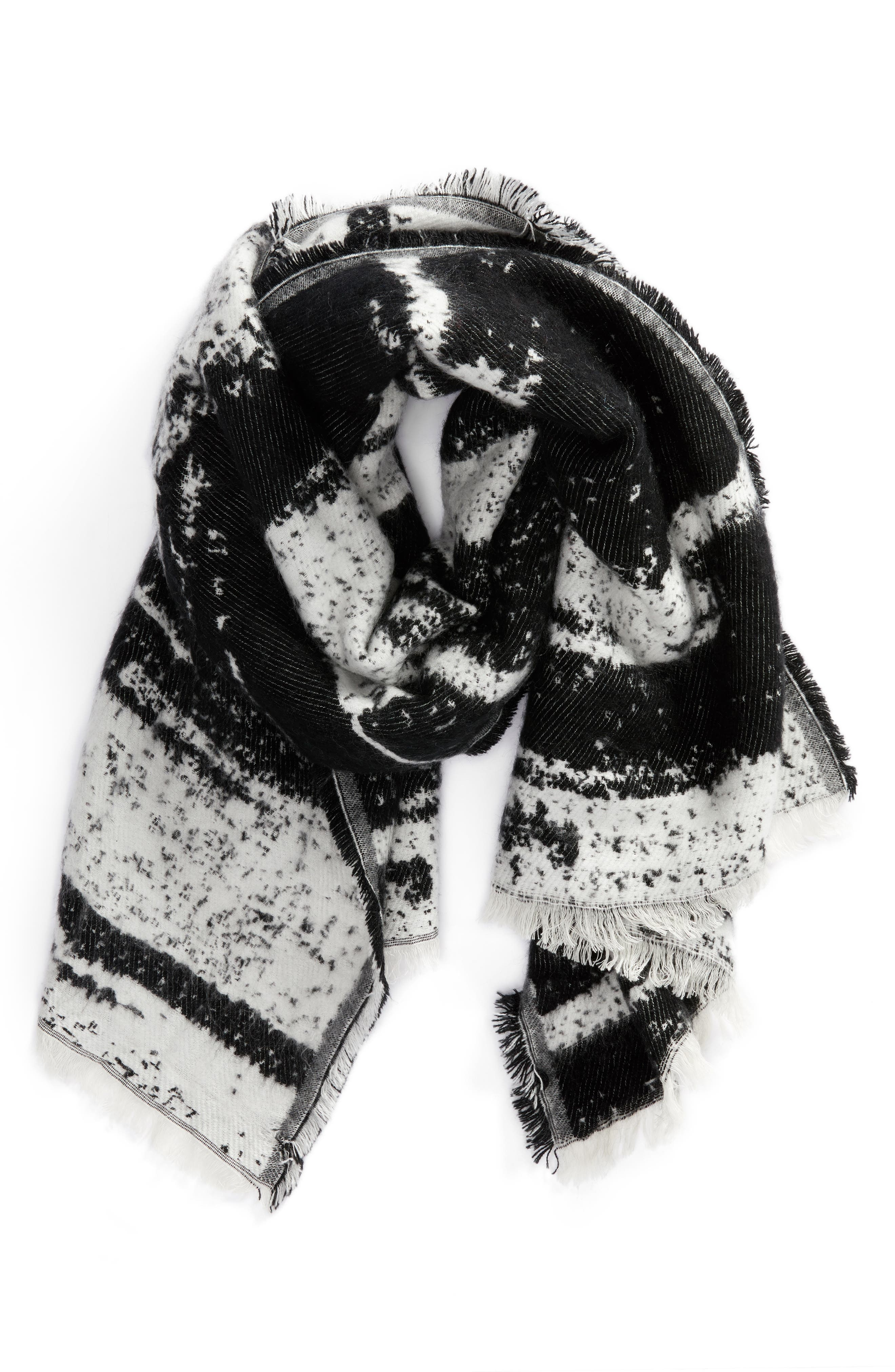 Textured Blanket Scarf,                             Alternate thumbnail 2, color,