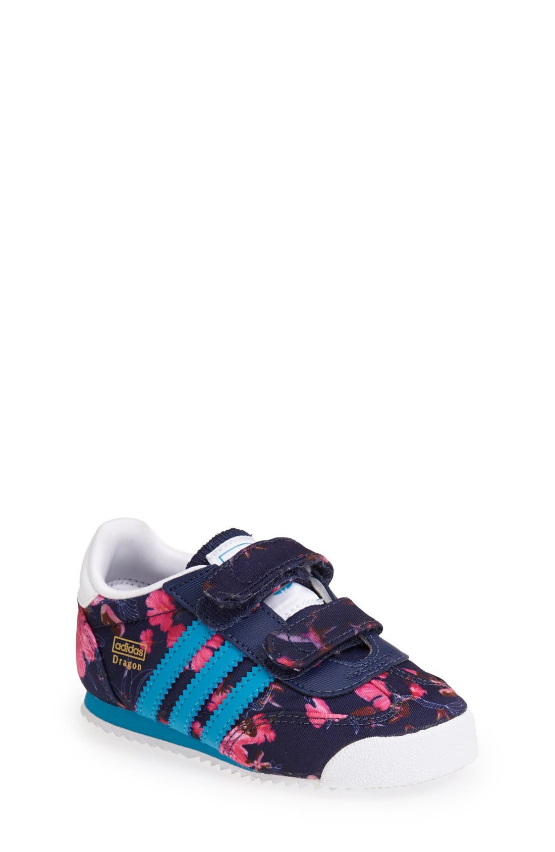 'Dragon - Floral' Sneaker, Main, color, 100