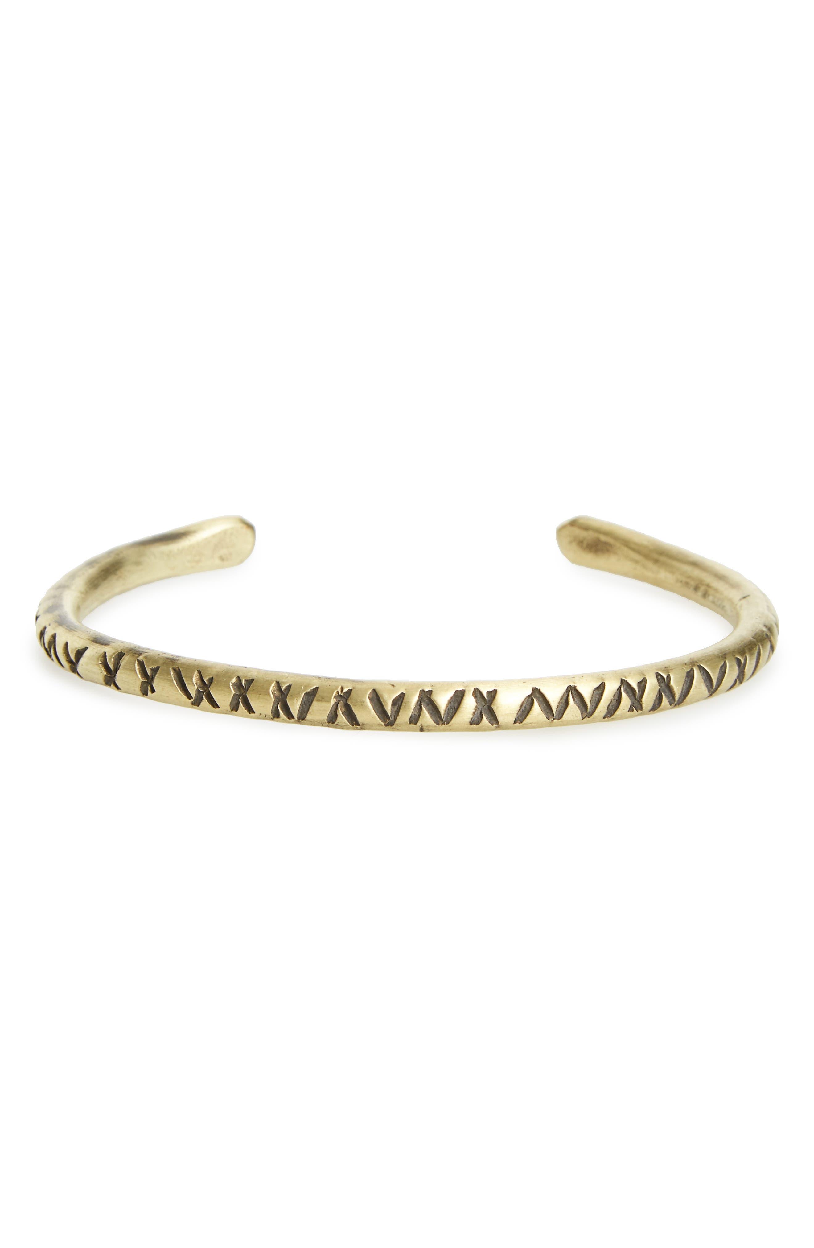 Brass Cuff Bracelet,                         Main,                         color, 220