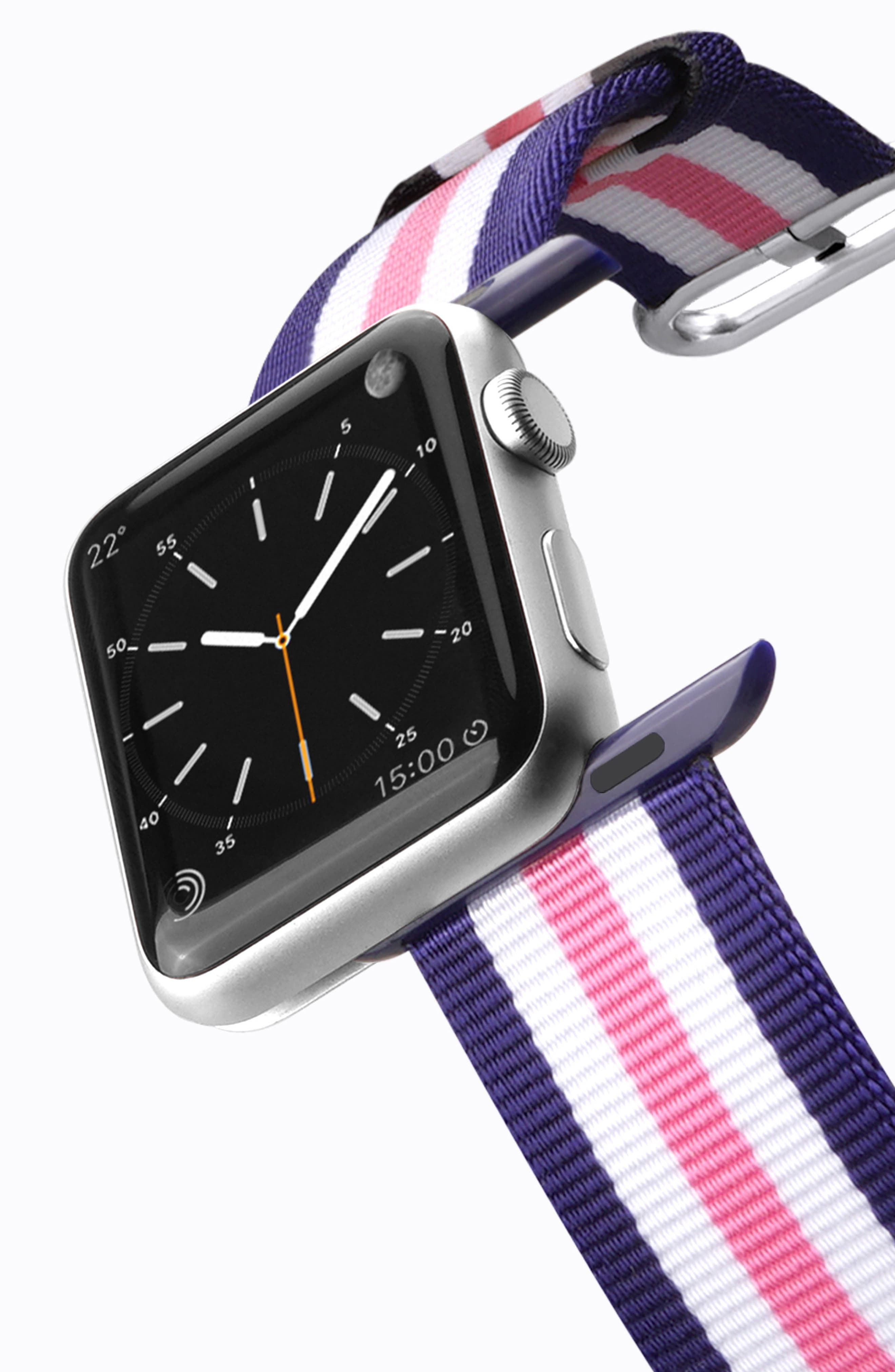 Nylon Apple Watch Strap, 38mm,                             Alternate thumbnail 15, color,