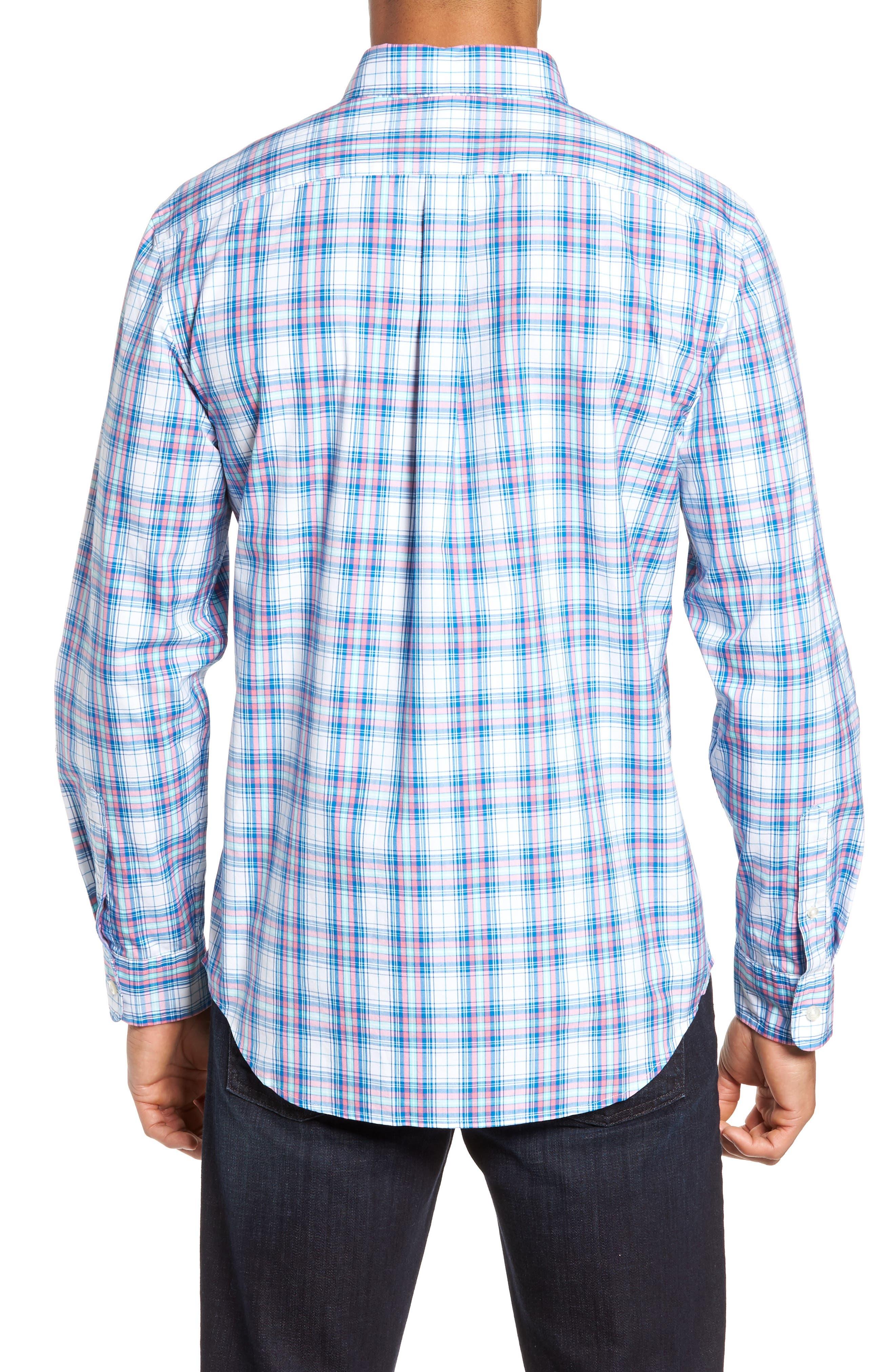 Tucker Sunset Pines Classic Fit Plaid Sport Shirt,                             Alternate thumbnail 2, color,                             650