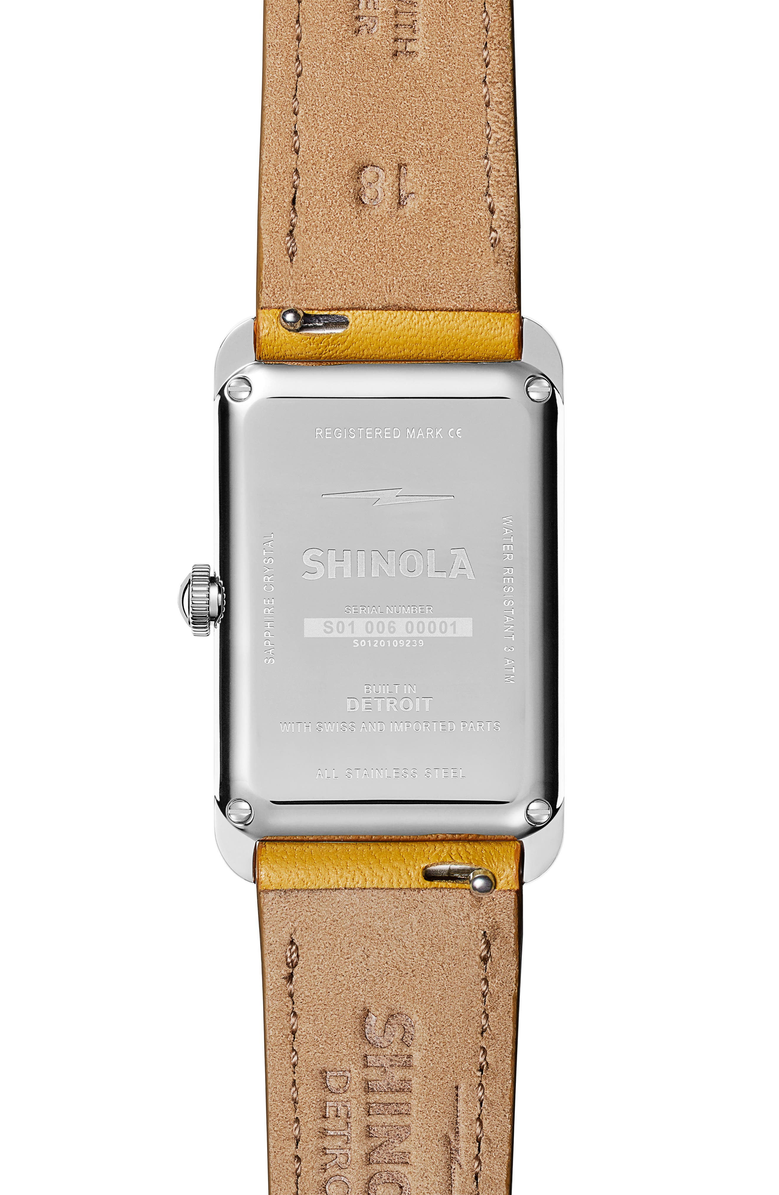 The Muldowney Rectangular Leather Strap Watch, 24mm x 32mm,                             Alternate thumbnail 10, color,