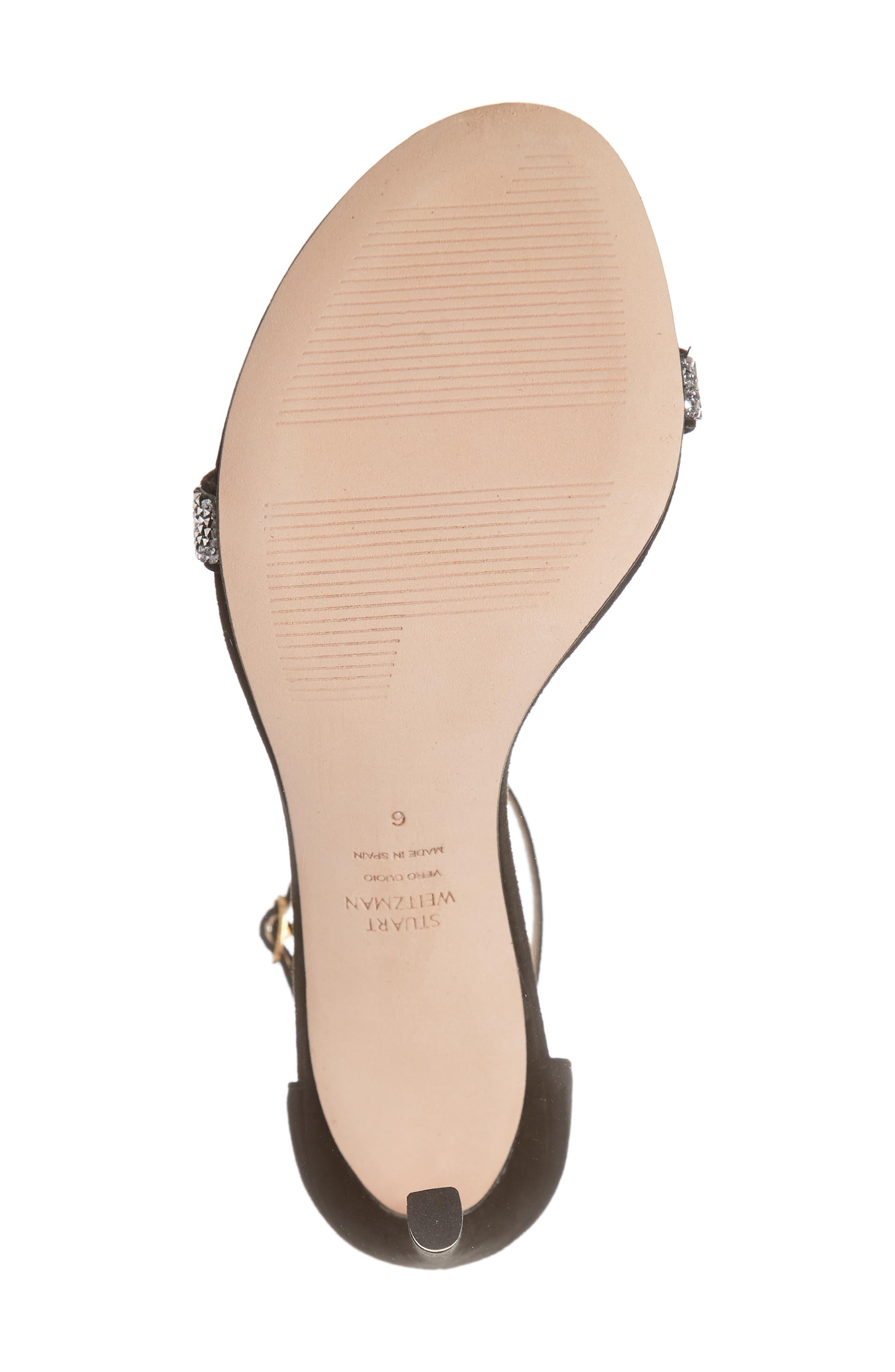 STUART WEITZMAN,                             Nudistsong Ankle Strap Sandal,                             Alternate thumbnail 6, color,                             BLACK