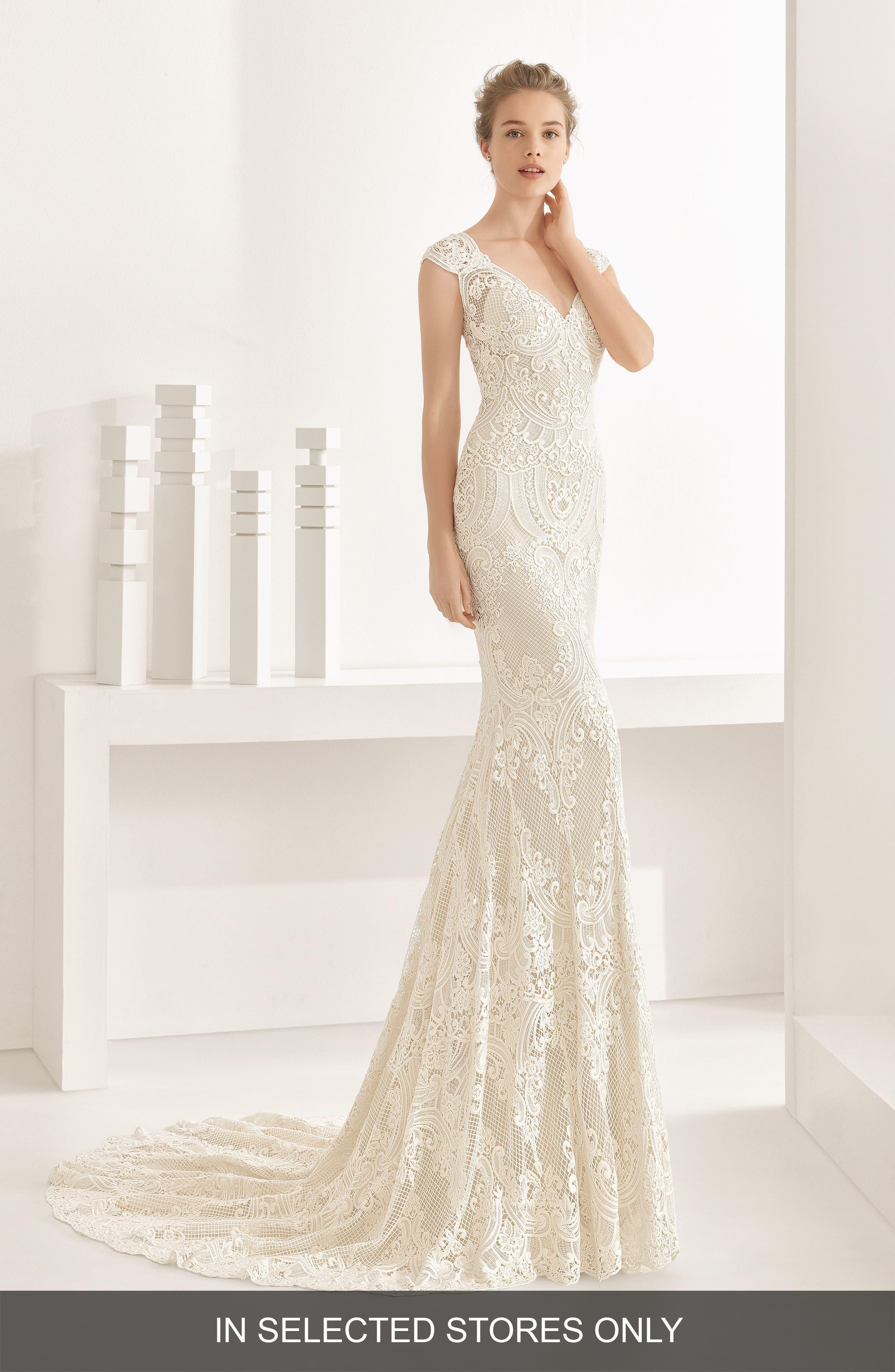 Natalia Guipure Lace Mermaid Gown,                         Main,                         color,