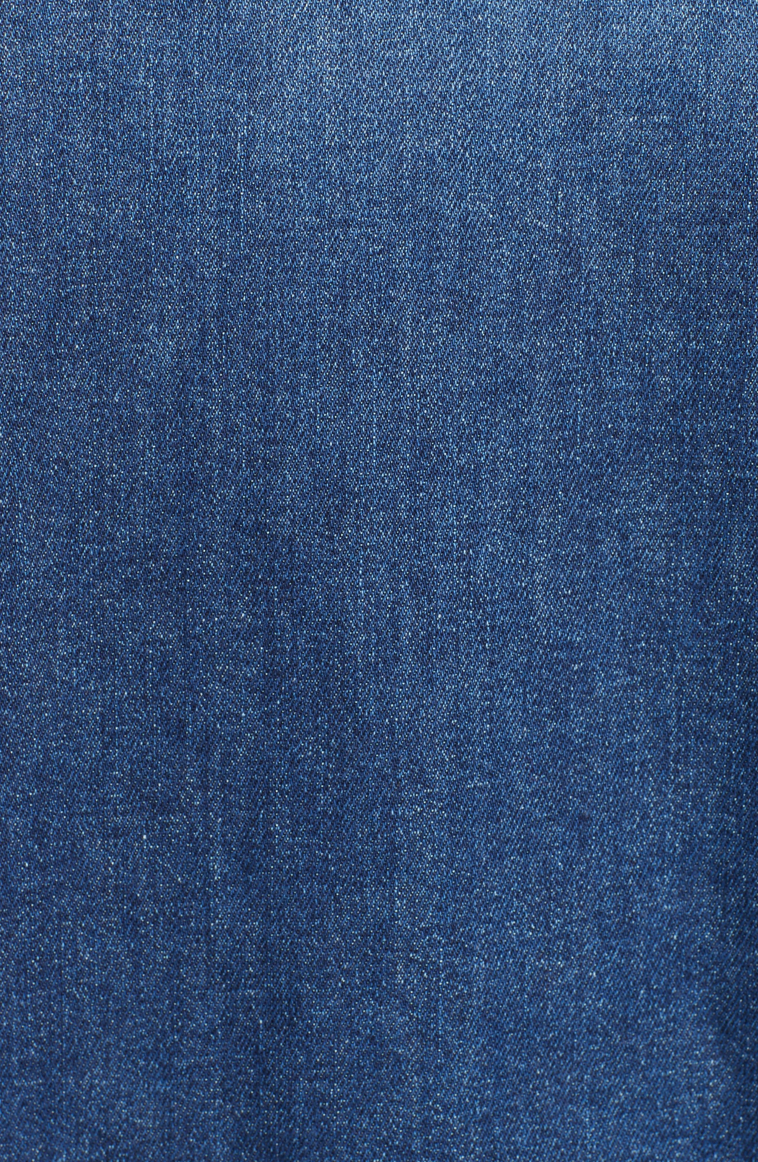 Stone Washed Denim Jacket,                             Alternate thumbnail 5, color,                             408