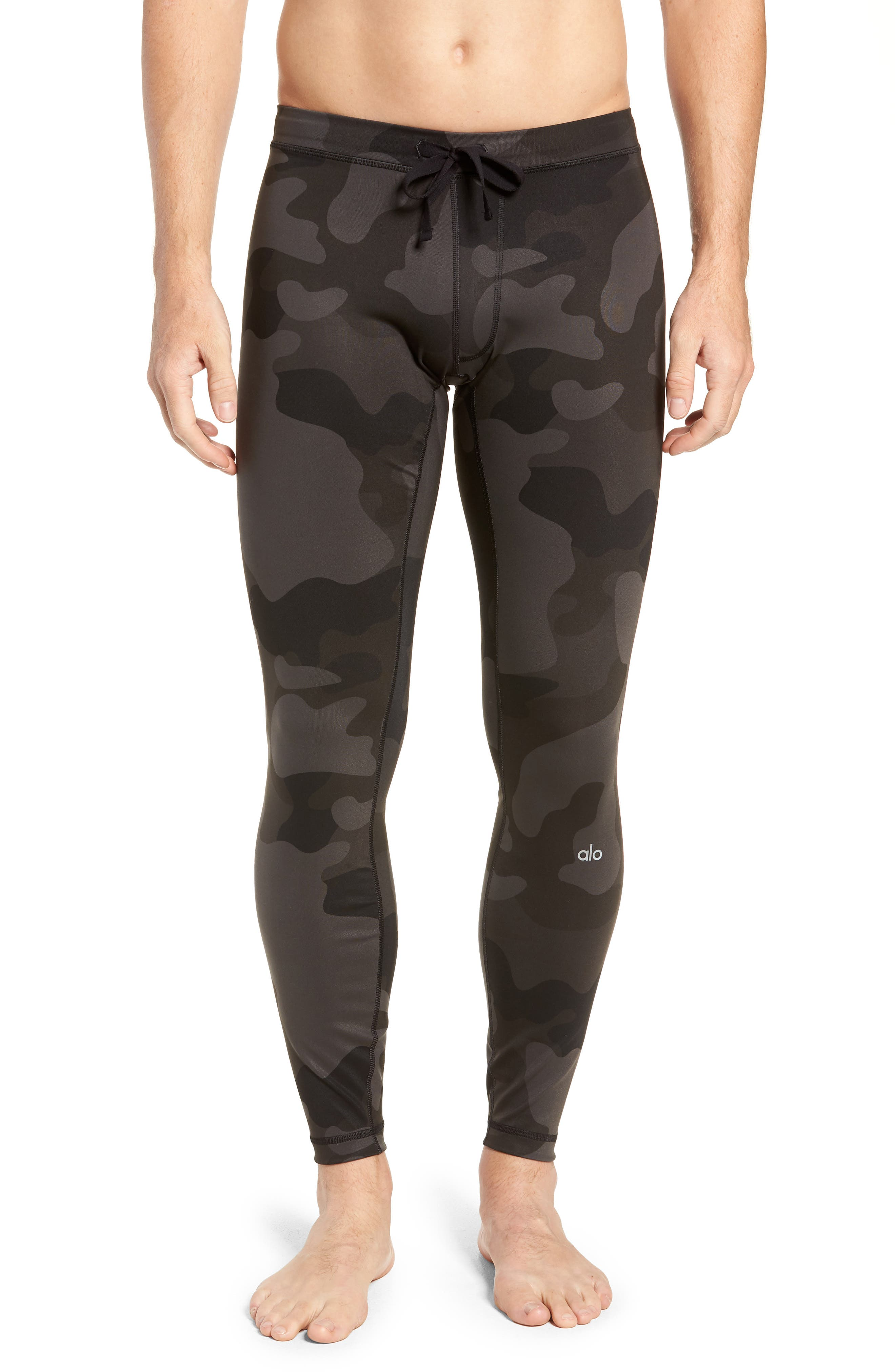 Warror Compression Tights,                         Main,                         color, ONYX CAMO