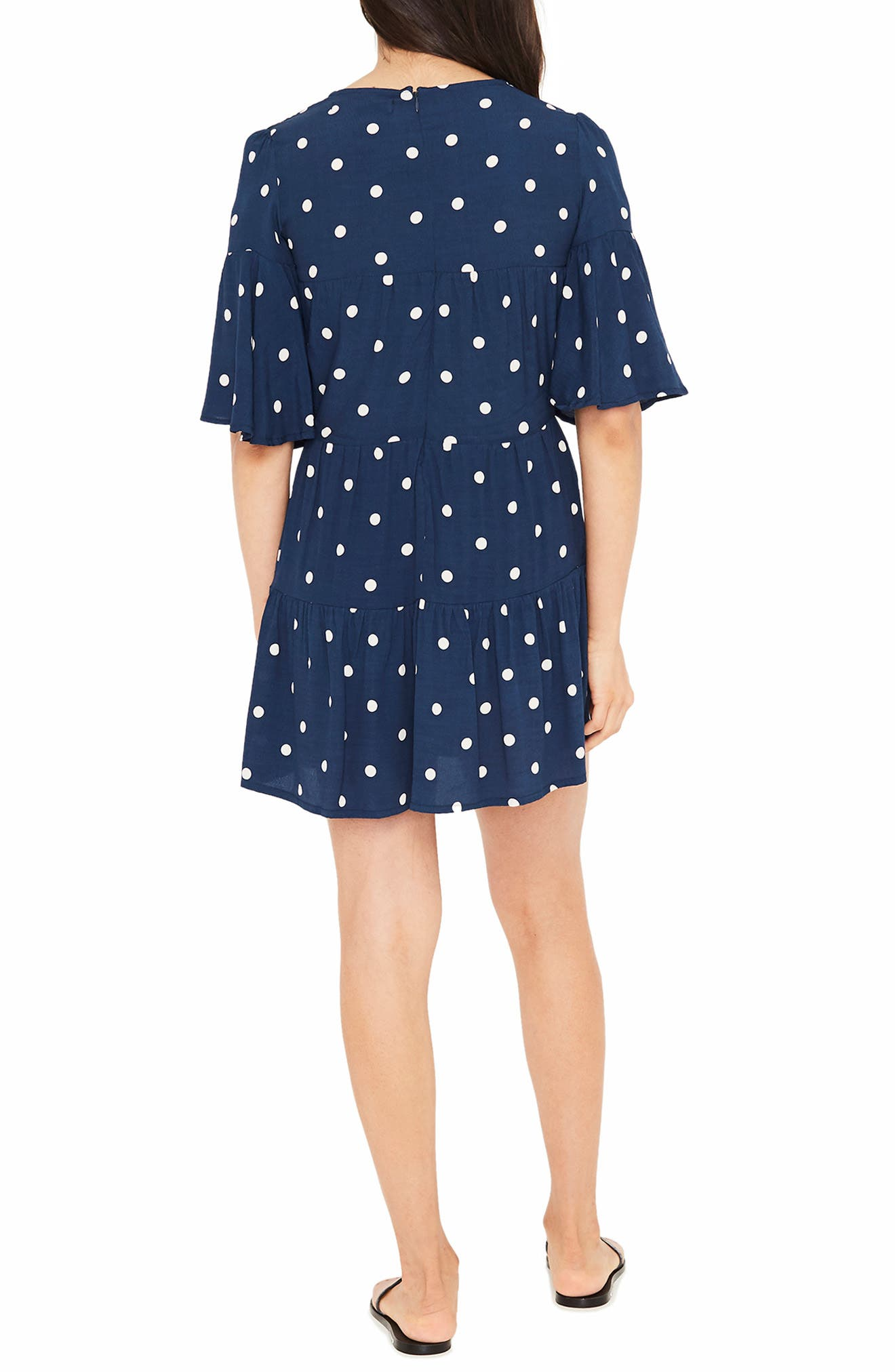 Polka Dot Dress,                             Alternate thumbnail 2, color,                             RONJA DOT VINTAGE BLUE