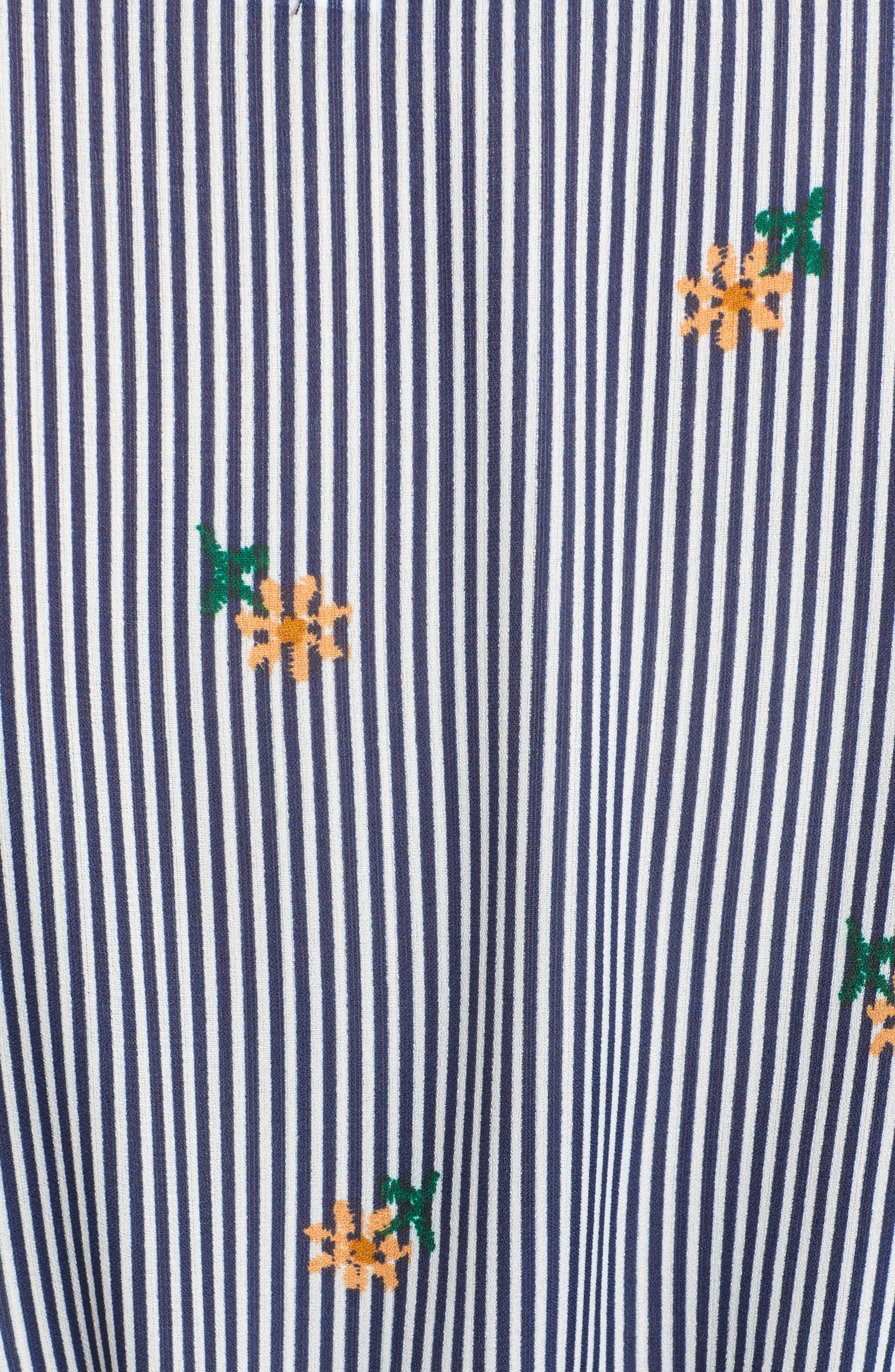 Bishop + Young Majorca Stripe Wrap Top,                             Alternate thumbnail 6, color,                             MAJORCA STRIPE