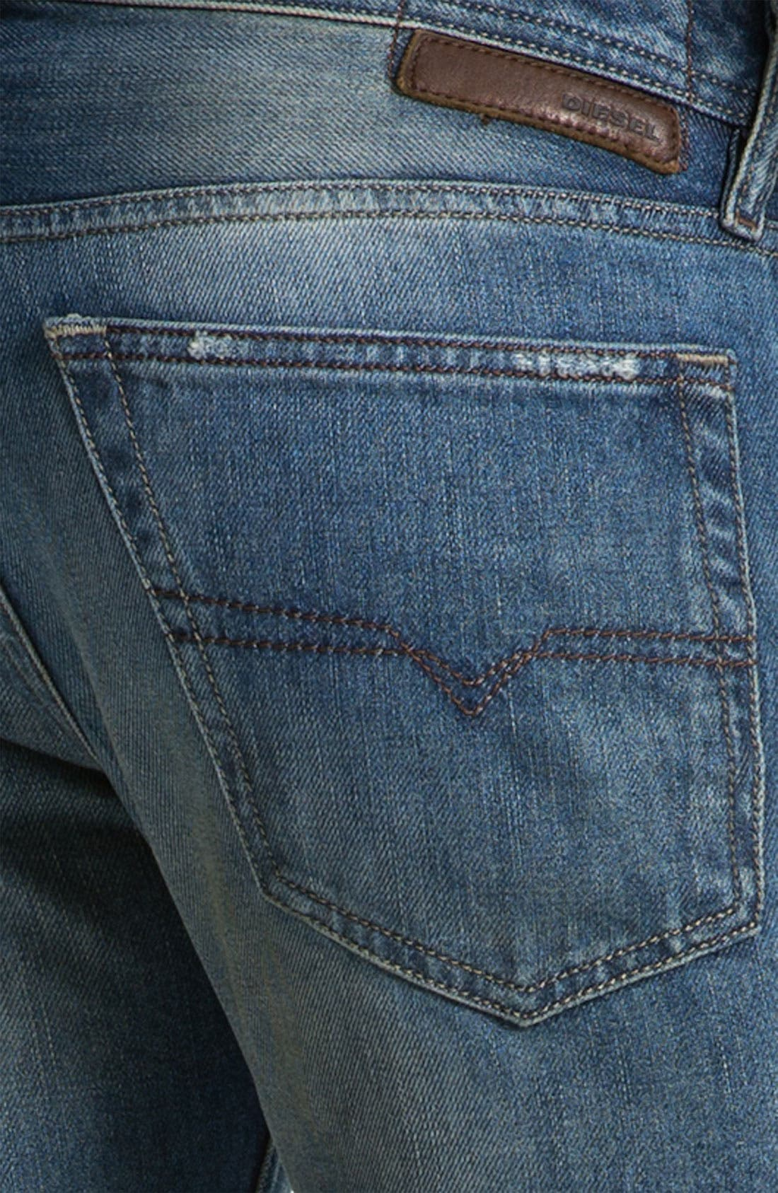 'New Fanker' Slim Bootcut Jeans,                             Alternate thumbnail 6, color,                             400
