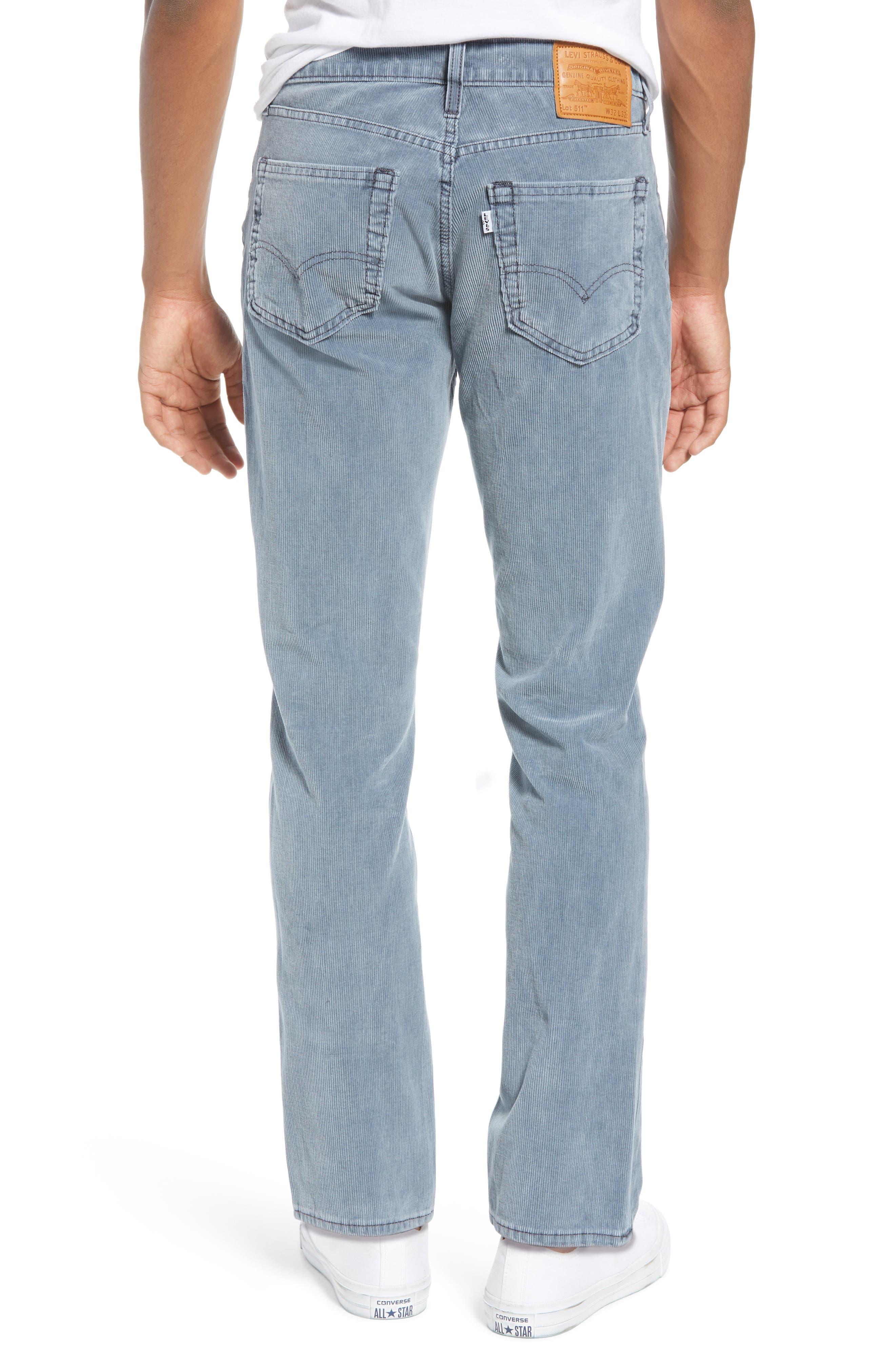 511<sup>™</sup> Slim Fit Corduroy Jeans,                             Alternate thumbnail 2, color,                             OMBRE BLUE WARP CORDUROY