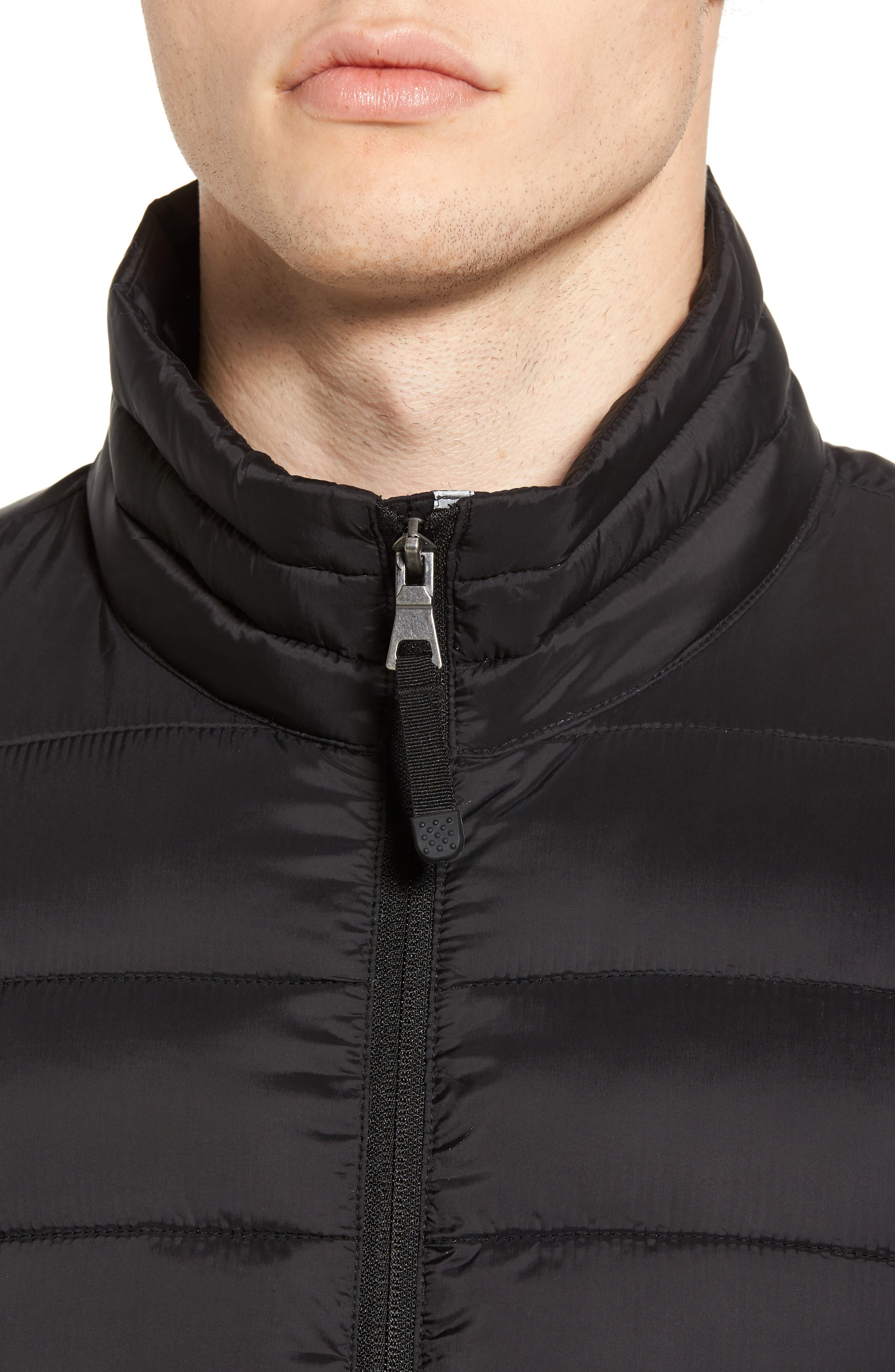 Water Resistant Packable Puffer Jacket,                             Alternate thumbnail 4, color,                             001
